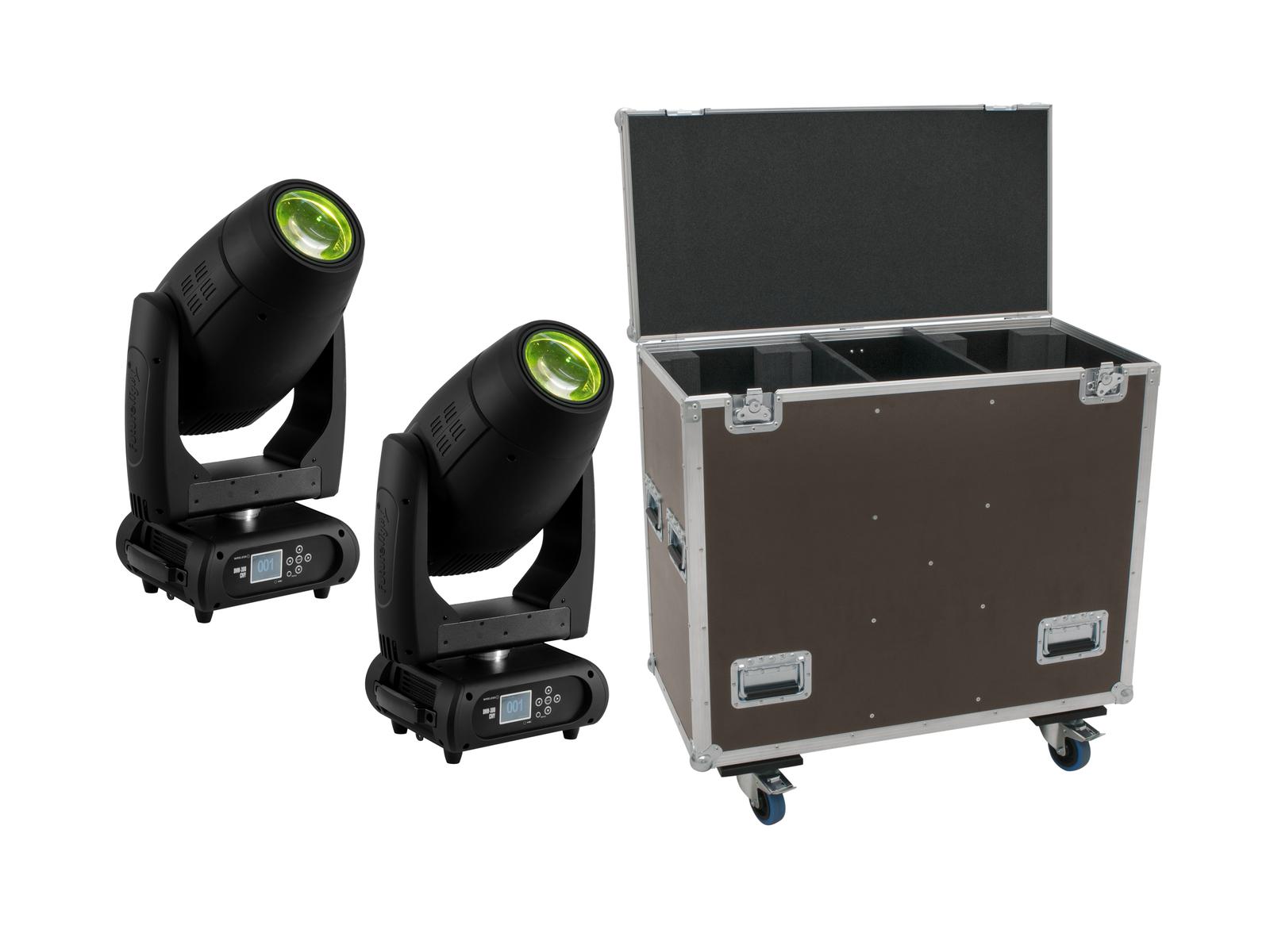 EUROLITE Set 2x DMH-300 CMY Moving-Head + Caso