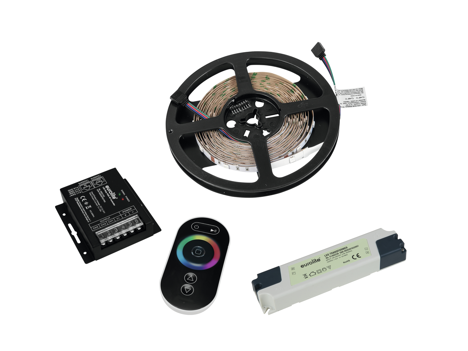 EUROLITE Set LED Strip RGB 5m + RF Controller + Trafo 12V