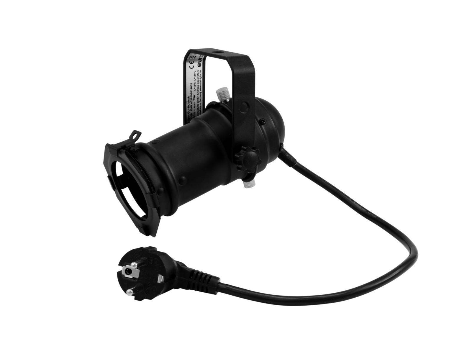 EUROLITE Set PAR-16 Spot GU-10 schwarz + GU-10 230V LED SMD 7W 6400K