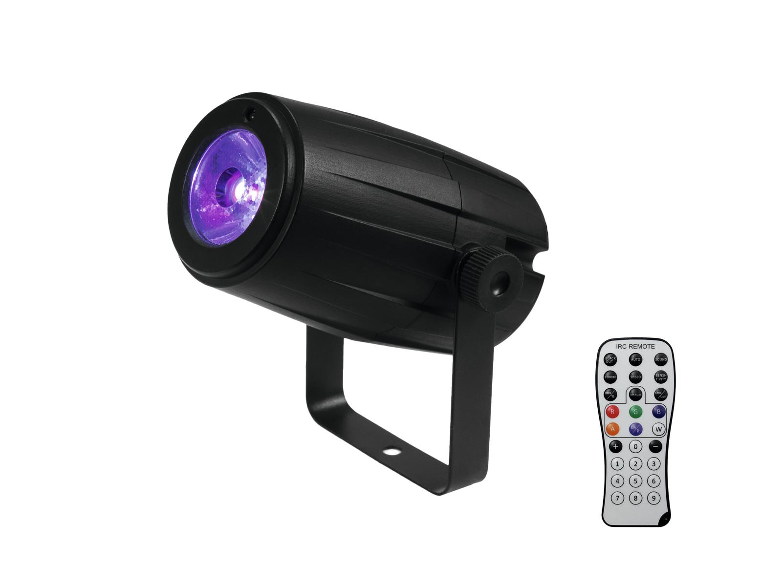 EUROLITE Set Spiegelkugel 20cm mit Motor + LED PST-5 QCL Spot sw
