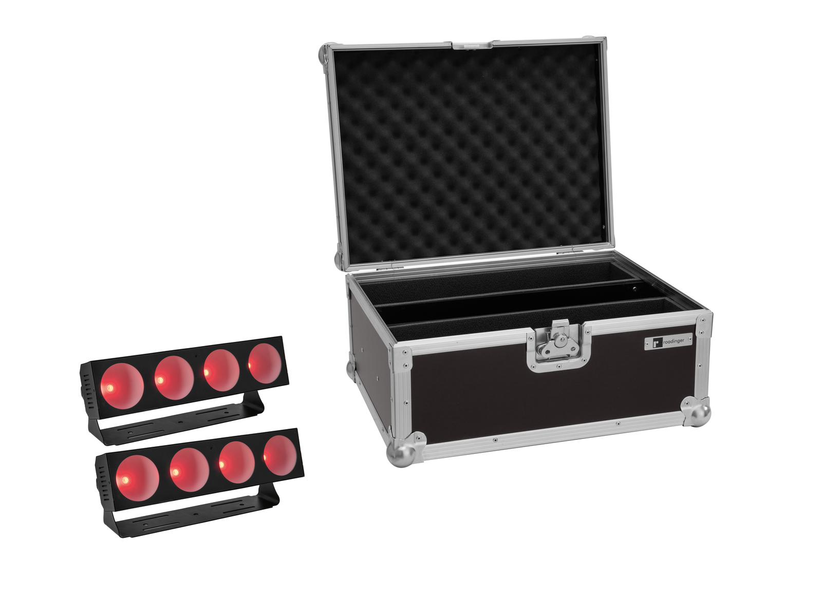 EUROLITE Set 2x LED CBB-4 COB RGB Leiste + Case