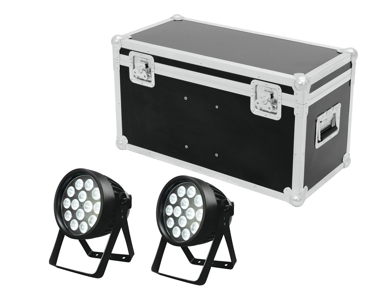 EUROLITE Set 2x LED IP PAR 14x8W QCL + Case