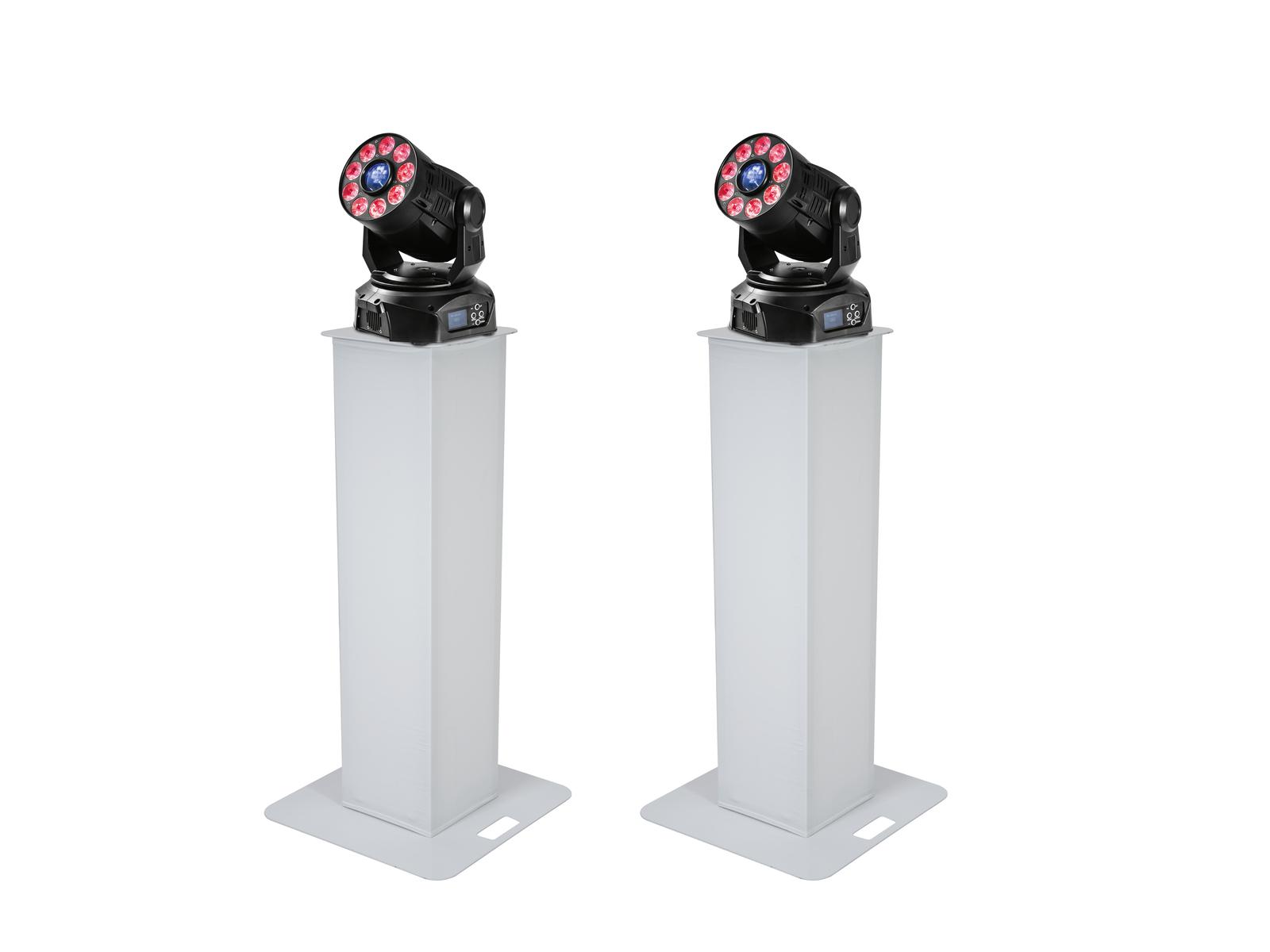 EUROLITE Set 2x Stage Stand 100cm + 2x LED TMH-75 COB