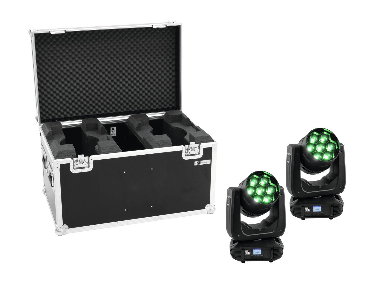 EUROLITE Set 2x LED TMH-X7 Wash Zoom + Caso