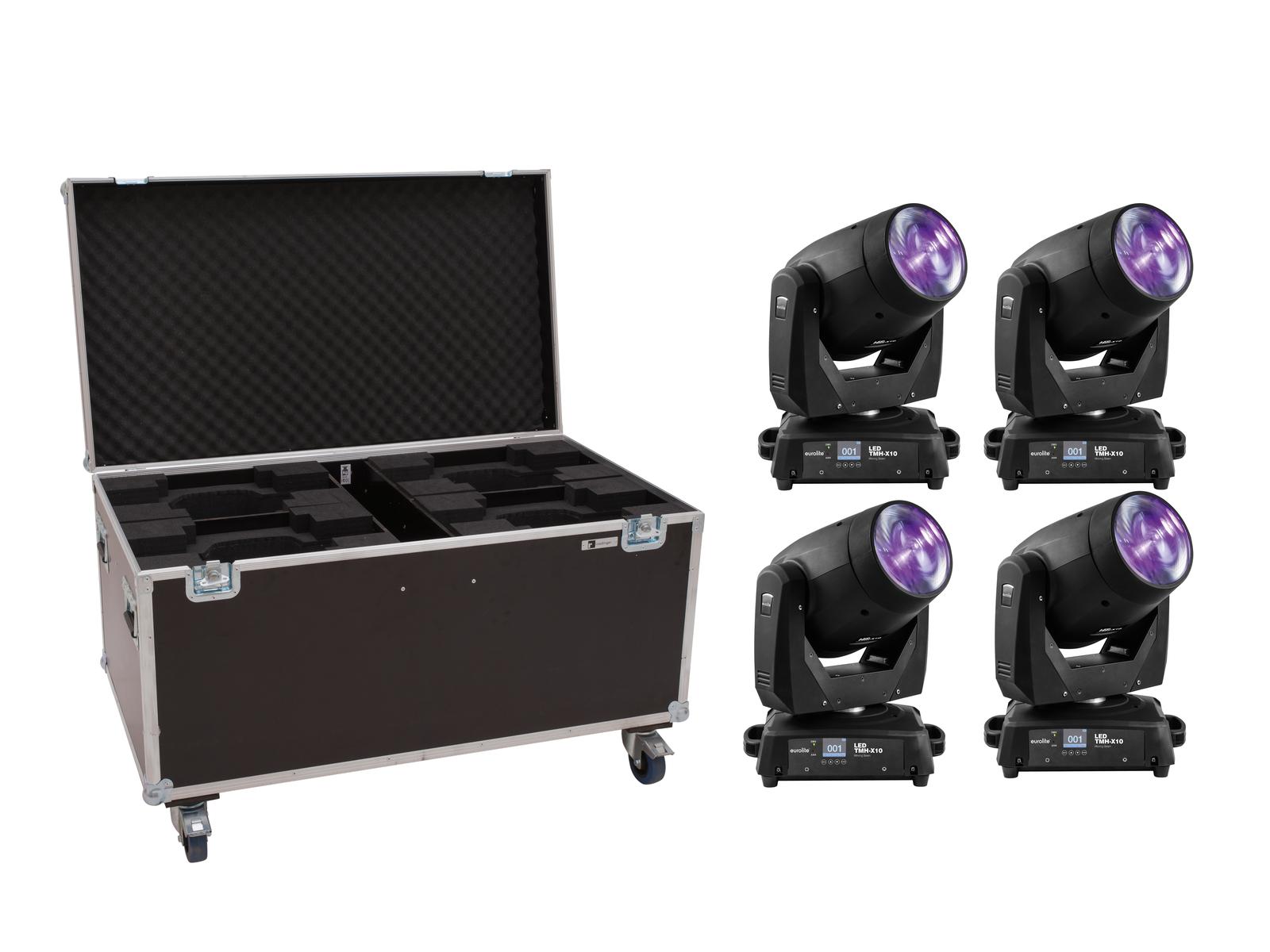 EUROLITE Set 4x LED TMH-X10 Beam + Case