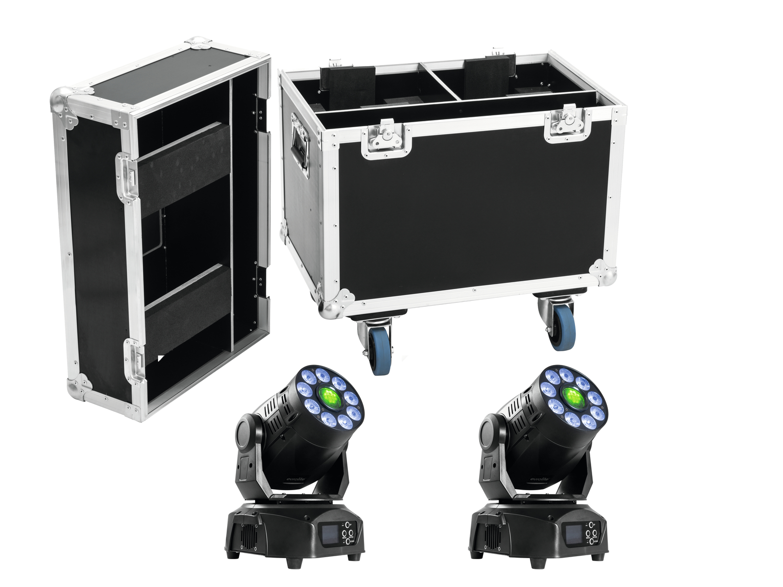 EUROLITE Set 2x LED TMH-75 Hybrid + Case