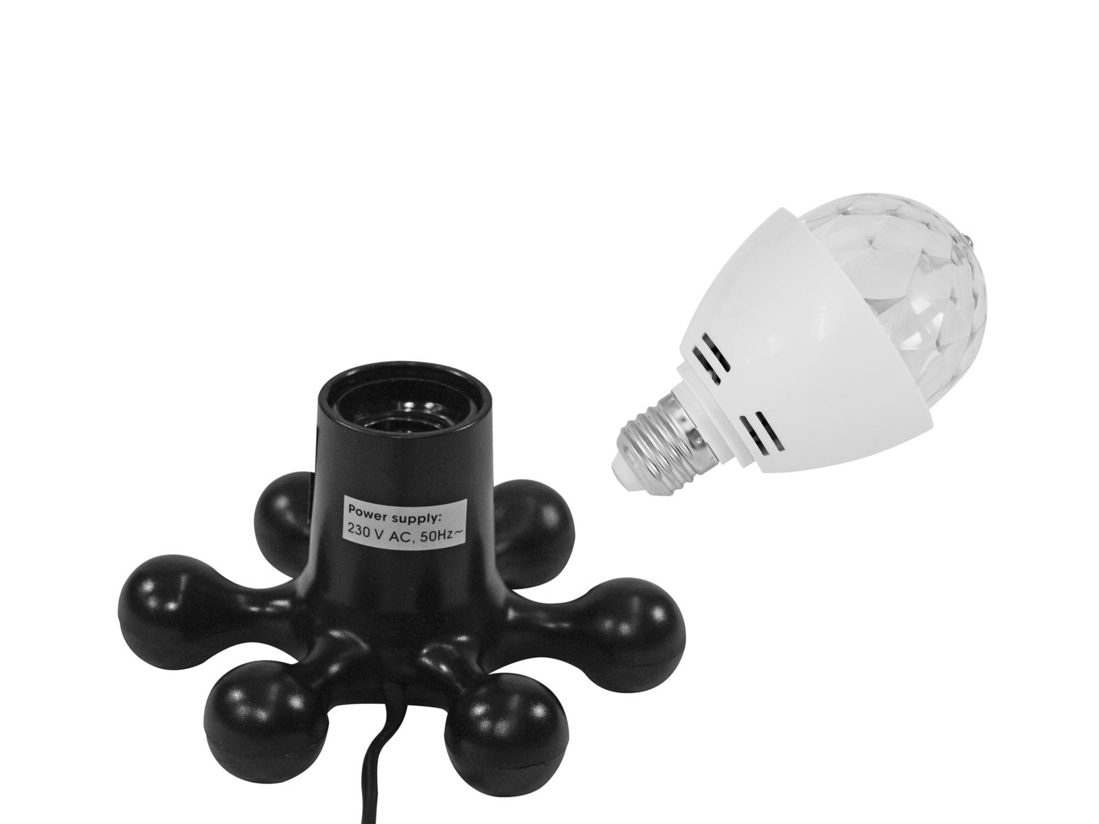 EUROLITE LED di Set BC-1 6400K + Hexopus base nera