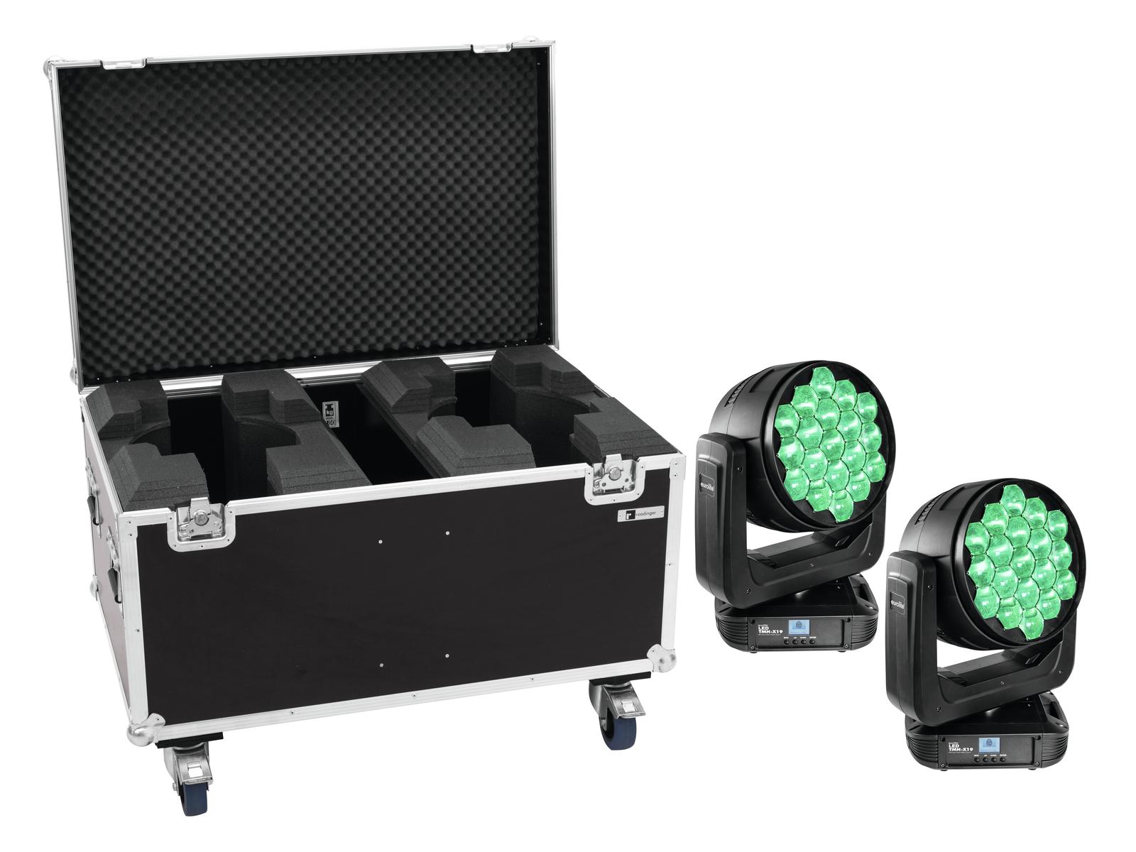 EUROLITE Set 2x LED TMH-X19 + Caso