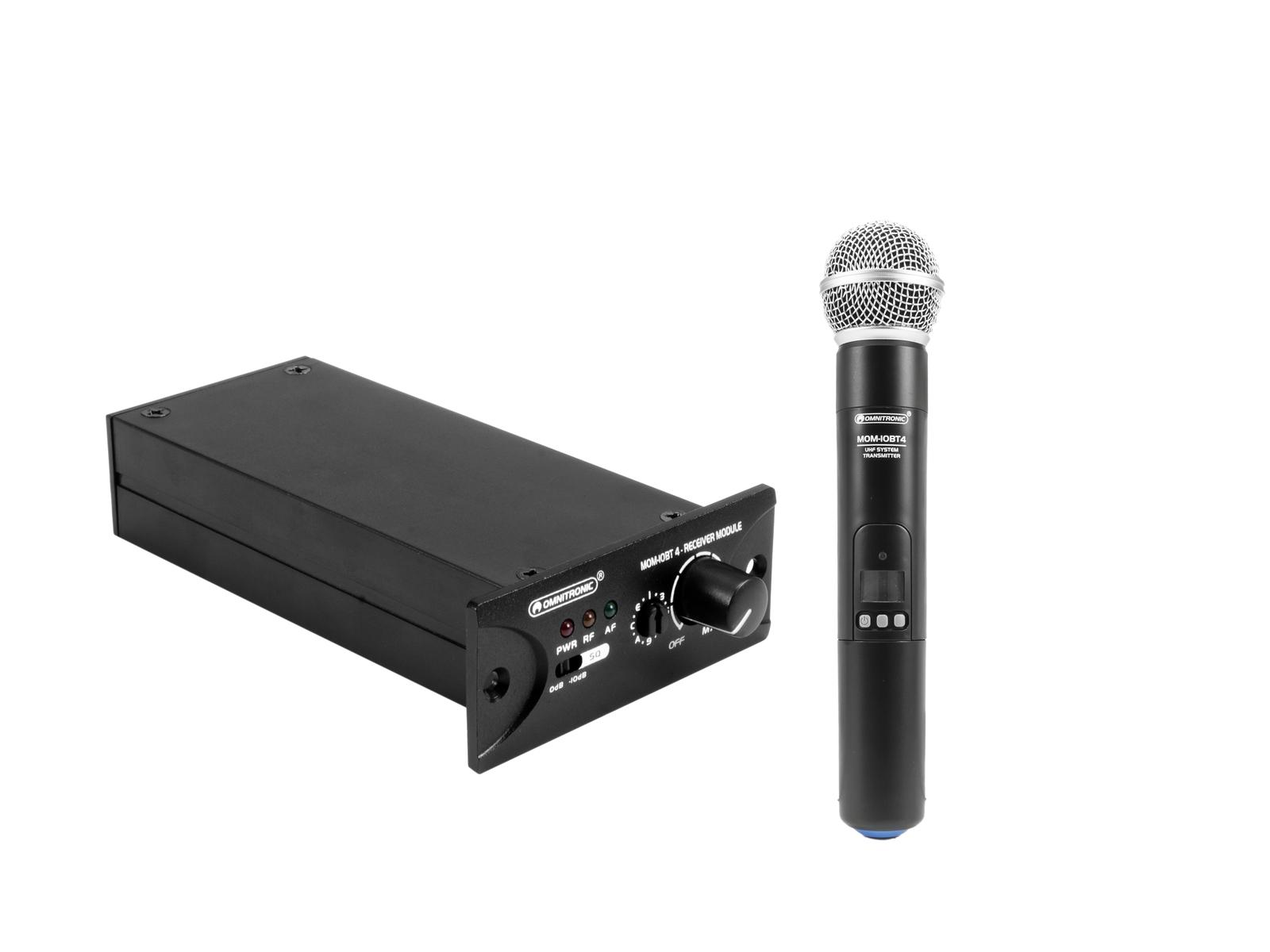 OMNITRONIC Set MOM-10BT4 Empfangsmodul + Funkmikrofon
