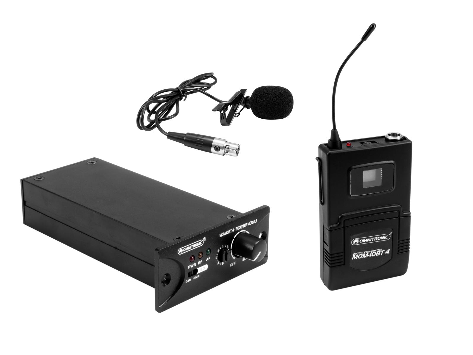 OMNITRONIC Set MOM-10BT4 Empfangsmodul + Taschensender + Lavalier-Mikrofon