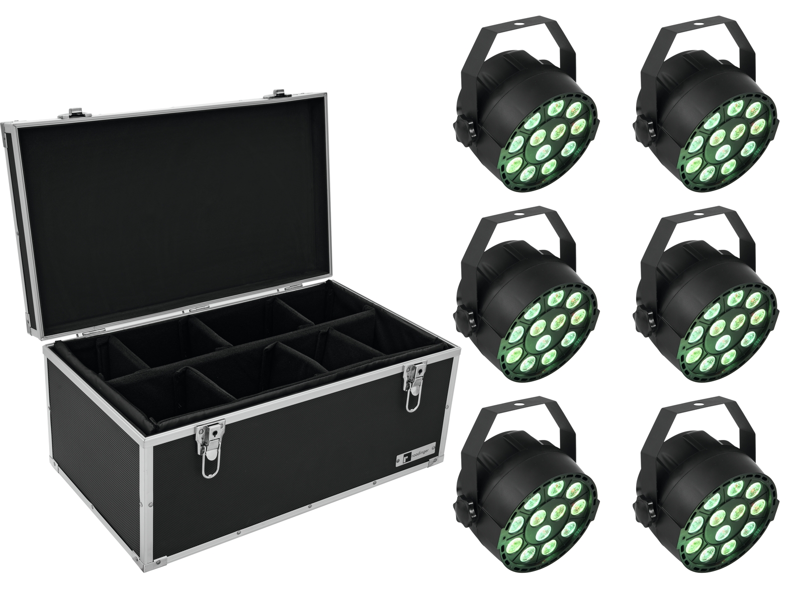 EUROLITE Set 6x LED PARty TCL Spot + Case TDV-1