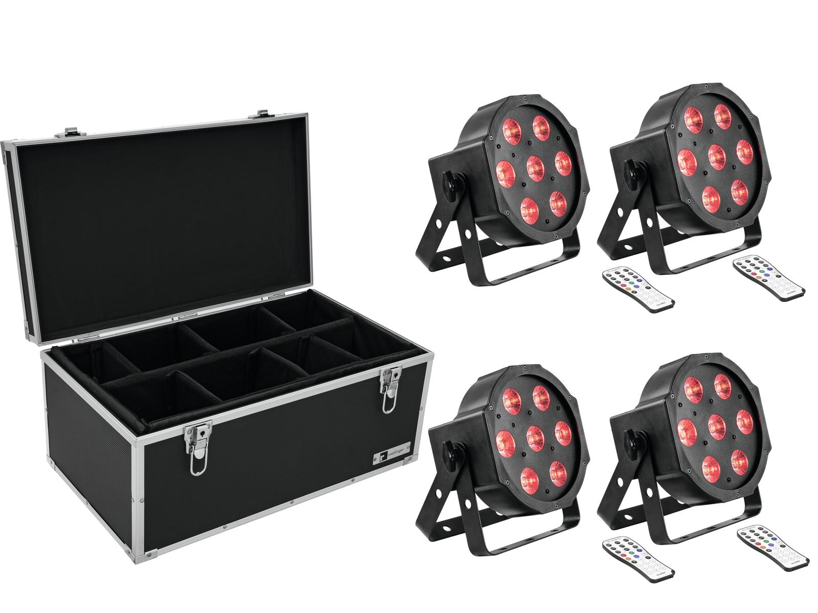 EUROLITE Set 4x LED SLS-7 HCL Floor + Case TDV-1