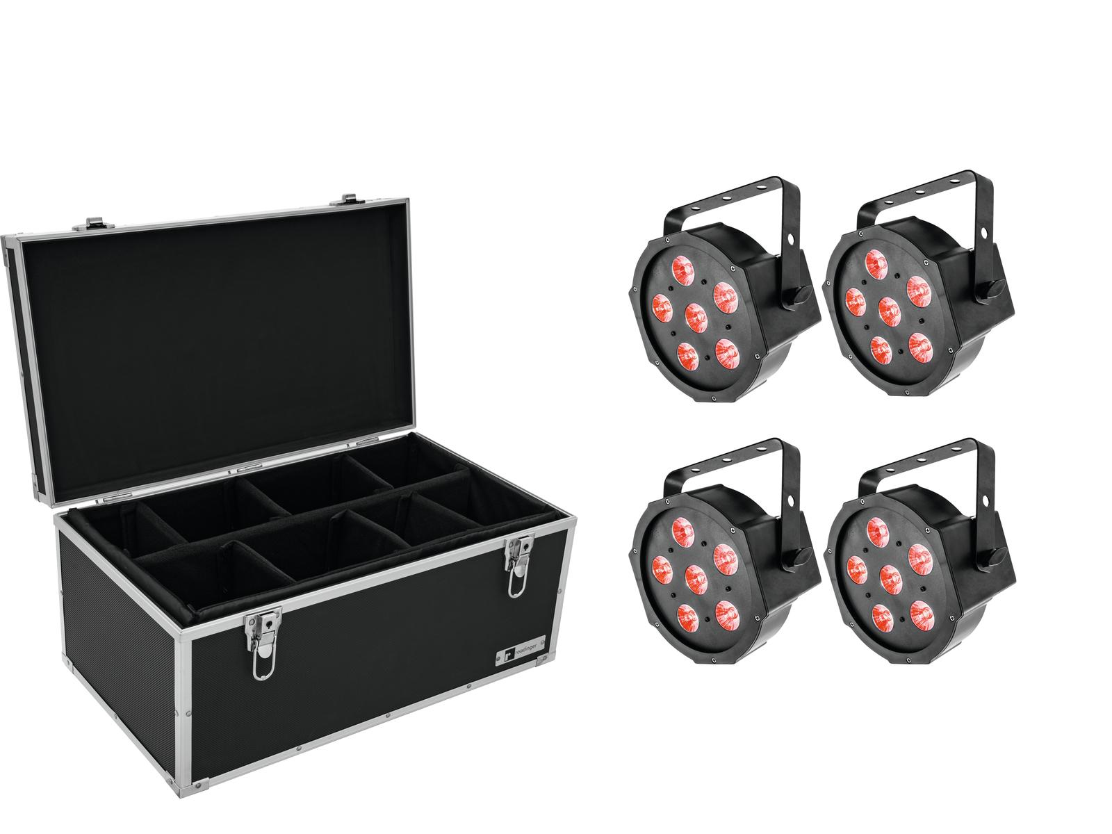 EUROLITE Set 4x LED SLS-6 TCL Spot + Case TDV-1