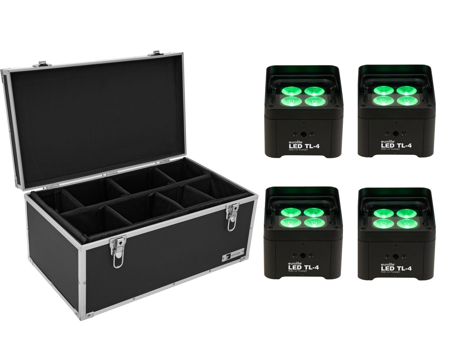 EUROLITE Set 4x LED TL-4 Trusslight + Case