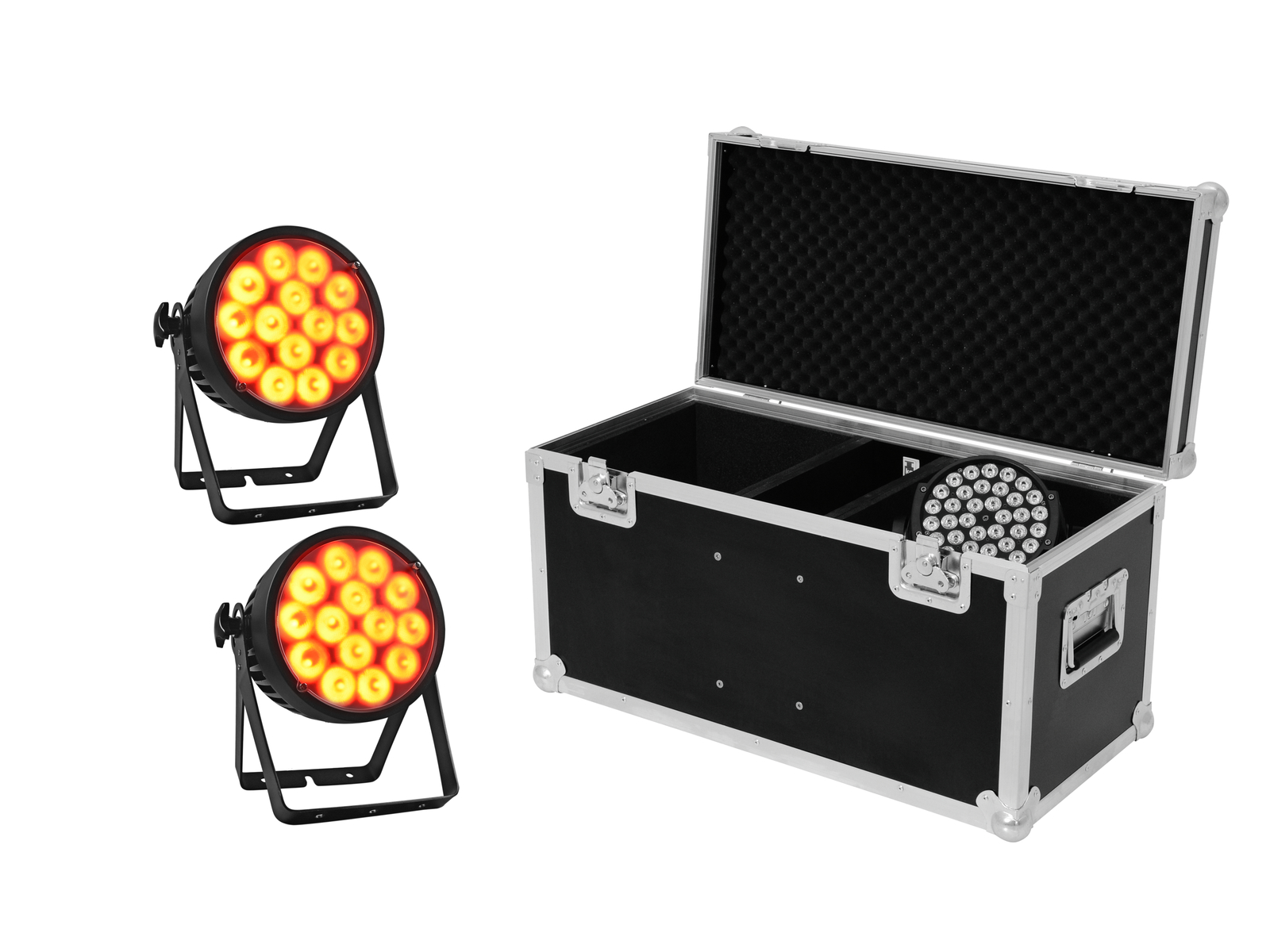 EUROLITE Set 2x LED IP PAR 14x10W HCL + Case