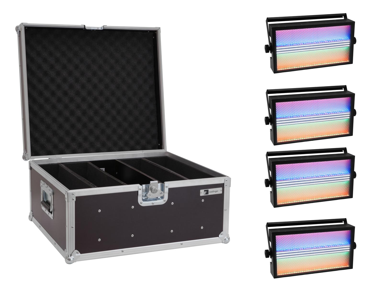 EUROLITE Set 4x LED Super Strobe ABL + Case