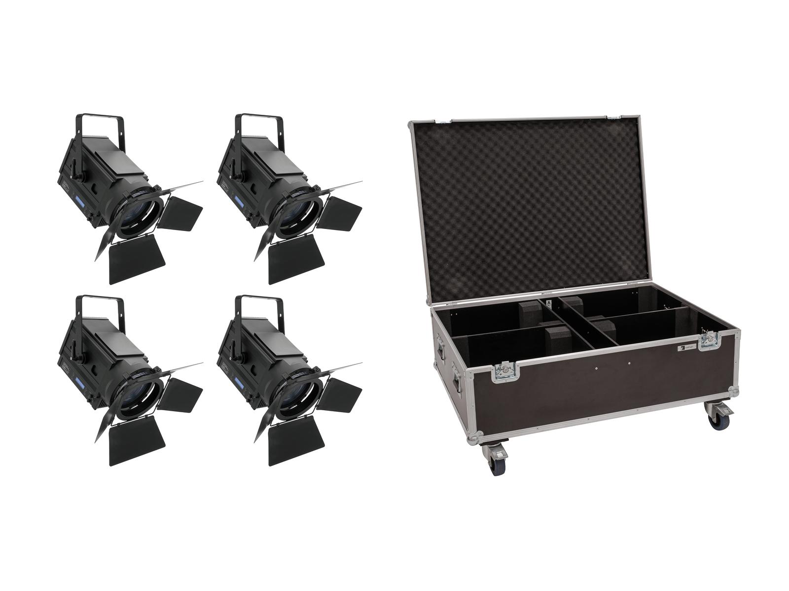 EUROLITE Set 4x LED THA-150F + Case