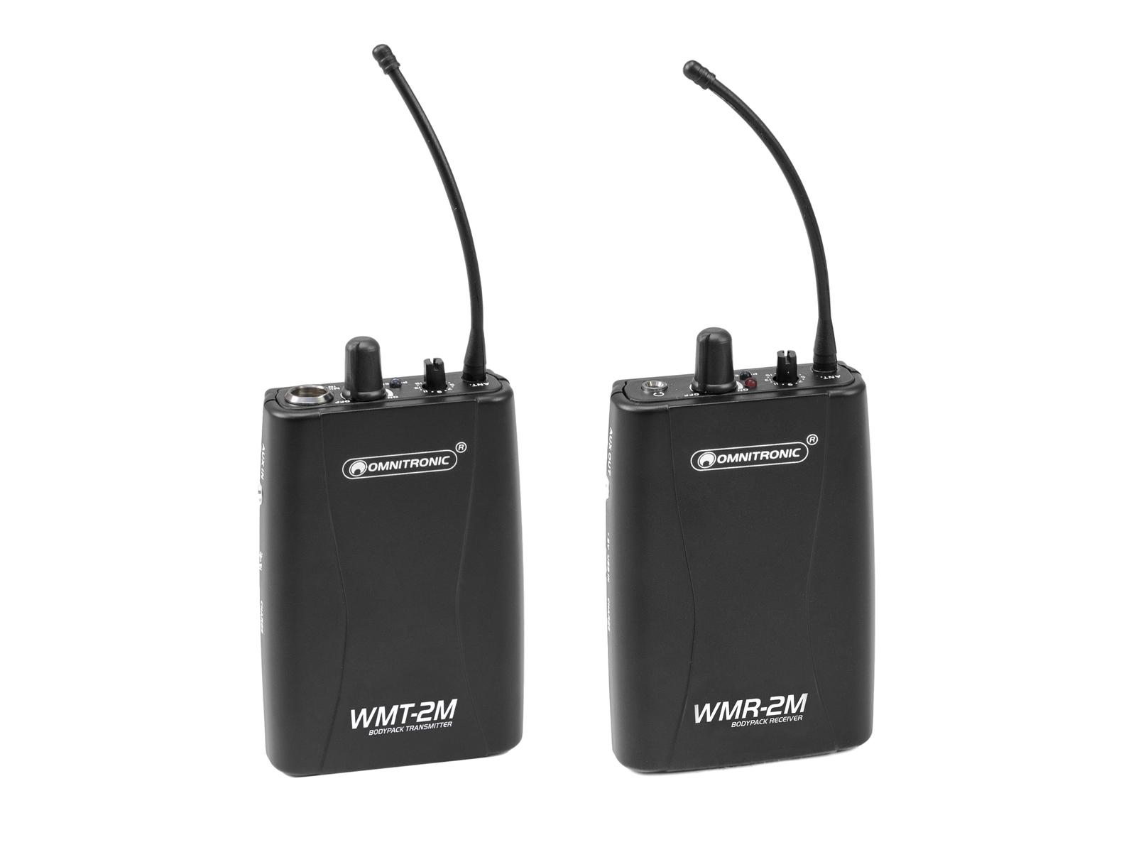 OMNITRONIC Set WMT-2M UHF-Sender + WMR-2M UHF-Empfänger