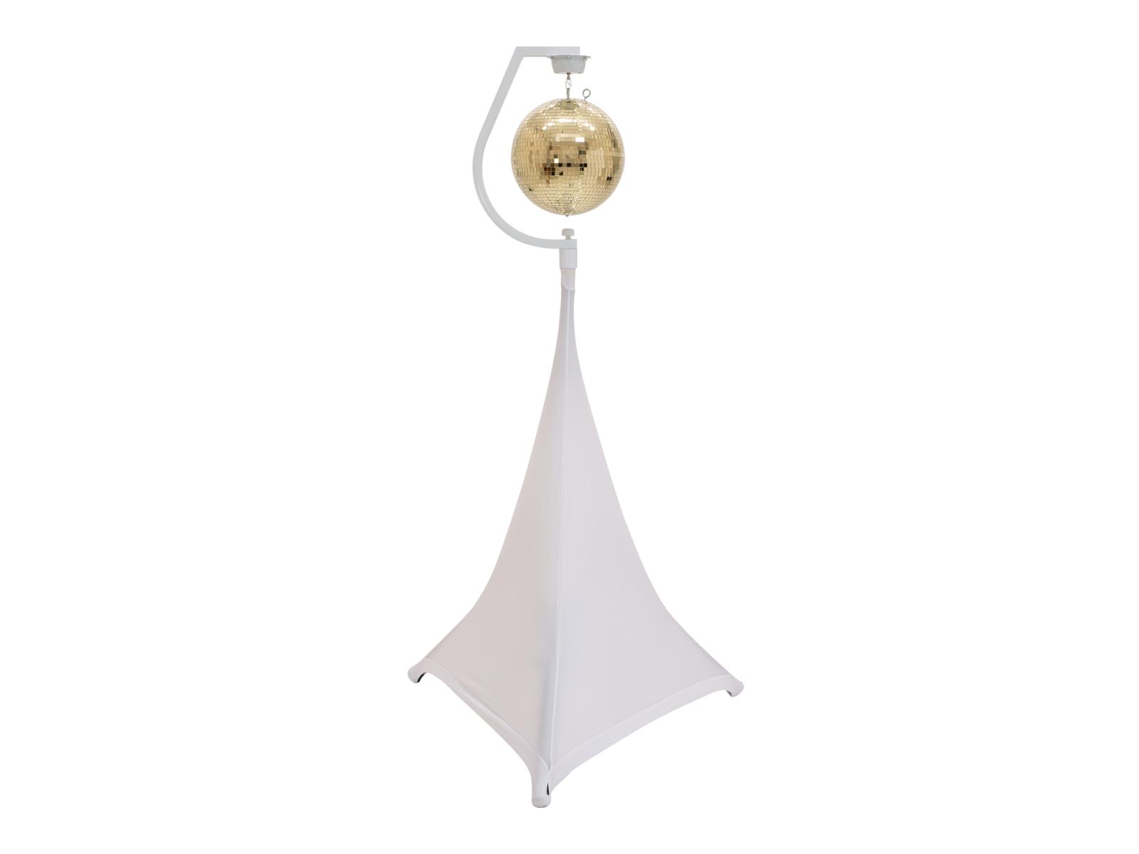 EUROLITE Set Spiegelkugel 50cm mit Stativ und Segel weiß