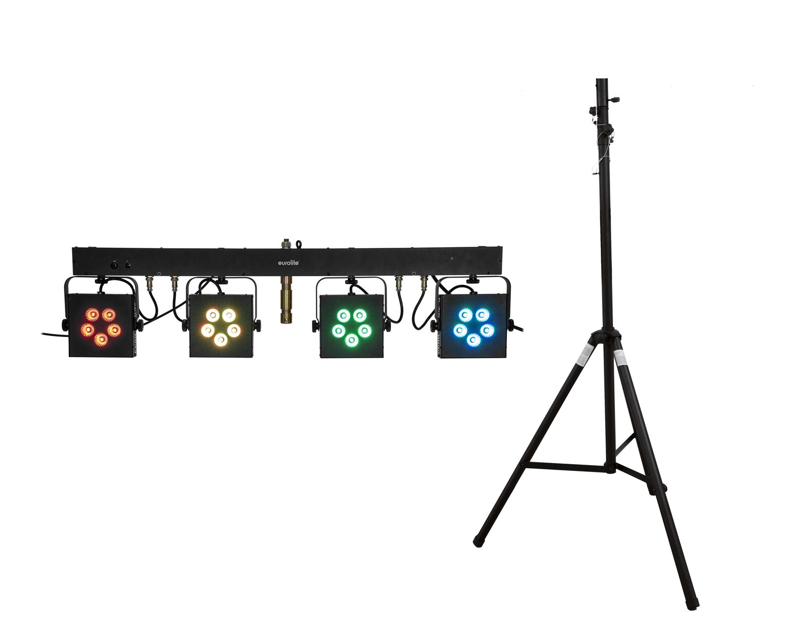 EUROLITE Set LED KLS-902 + STV-40S-WOT Stahlstativ