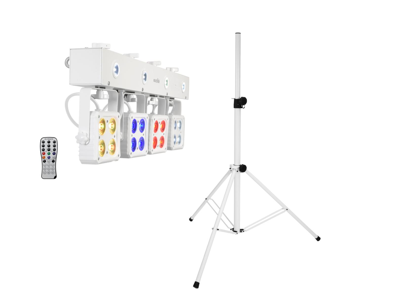 EUROLITE Set LED KLS-180 weiß + BS-2 EU Boxenhochständer weiß