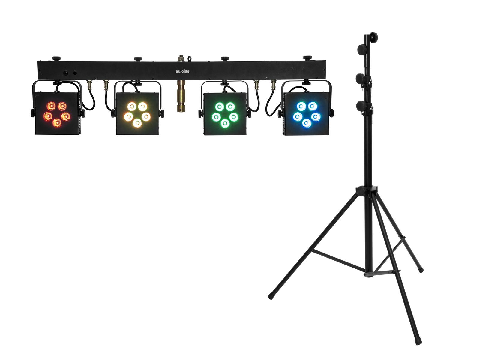 EUROLITE Set LED KLS-902 + STV-60-WOT EU Stahlstativ schwarz