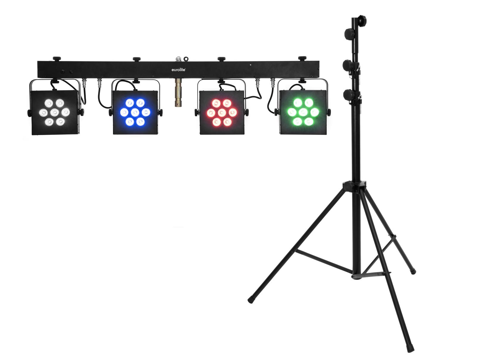 EUROLITE Set LED KLS-3002 + STV-60-WOT EU Stahlstativ schwarz