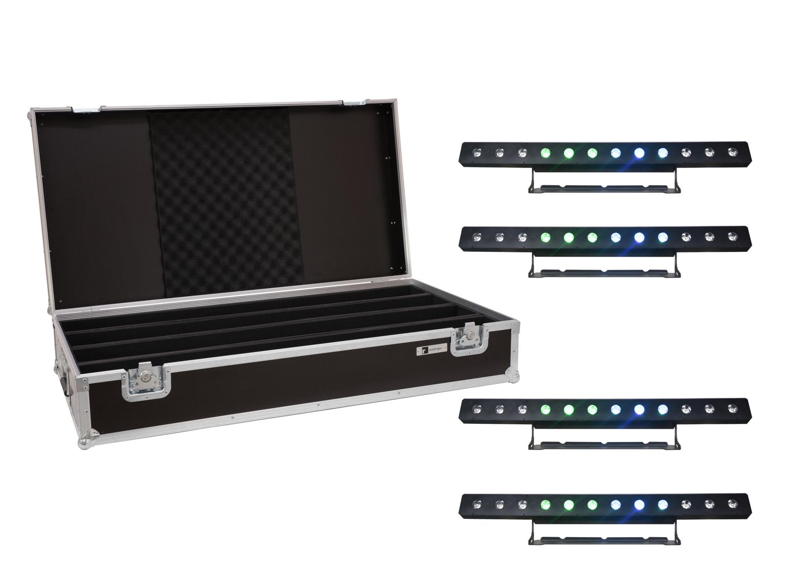 EUROLITE Set 4x LED PIX-12 QCL Leiste + Case
