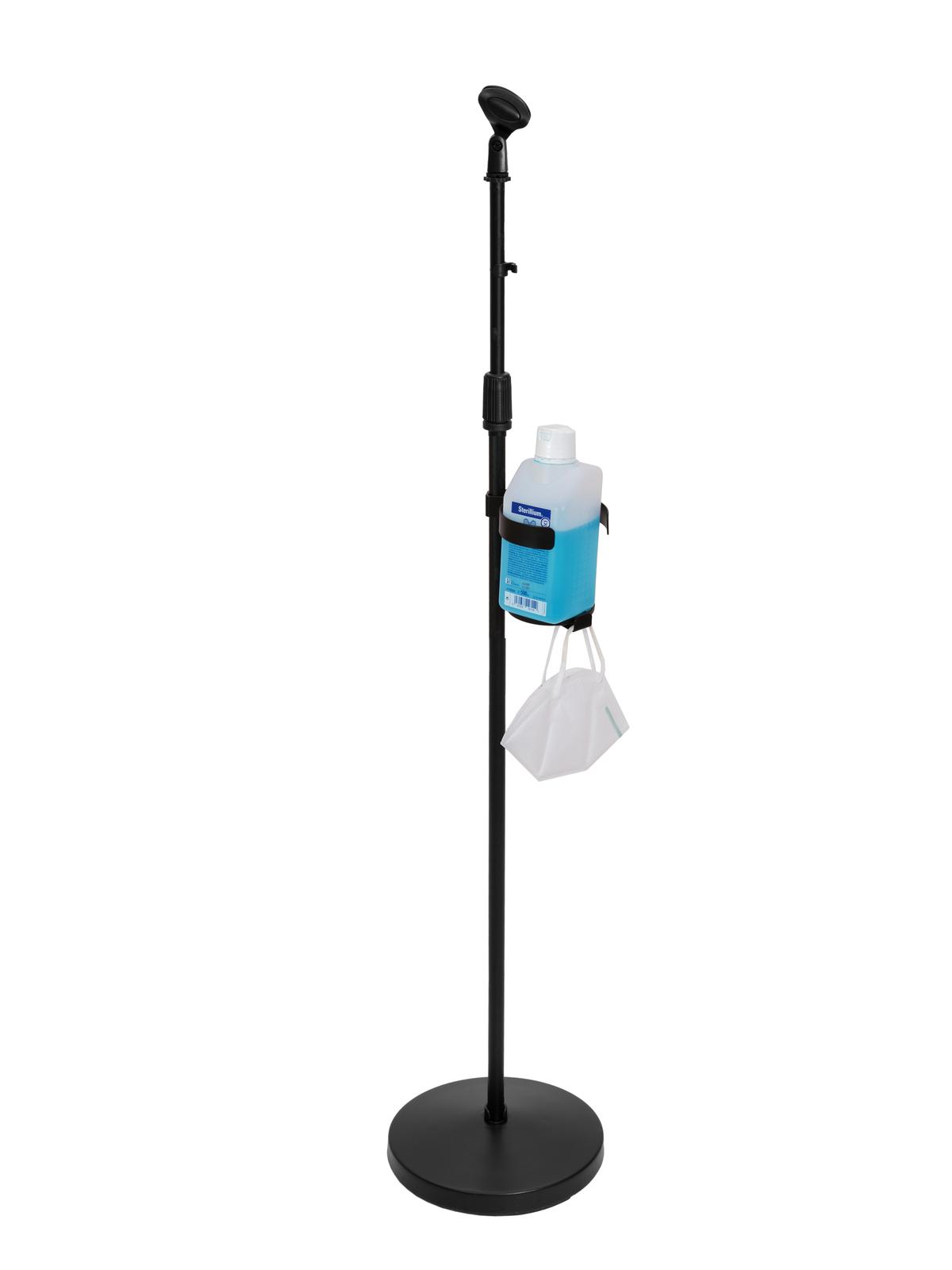 OMNITRONIC Set Mikrofonständer für Desinfektionsmittel, schwarz