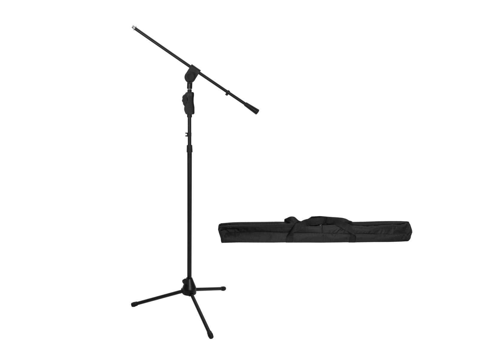 OMNITRONIC Set Mikrofonstativ MS-3 schwarz + Tasche