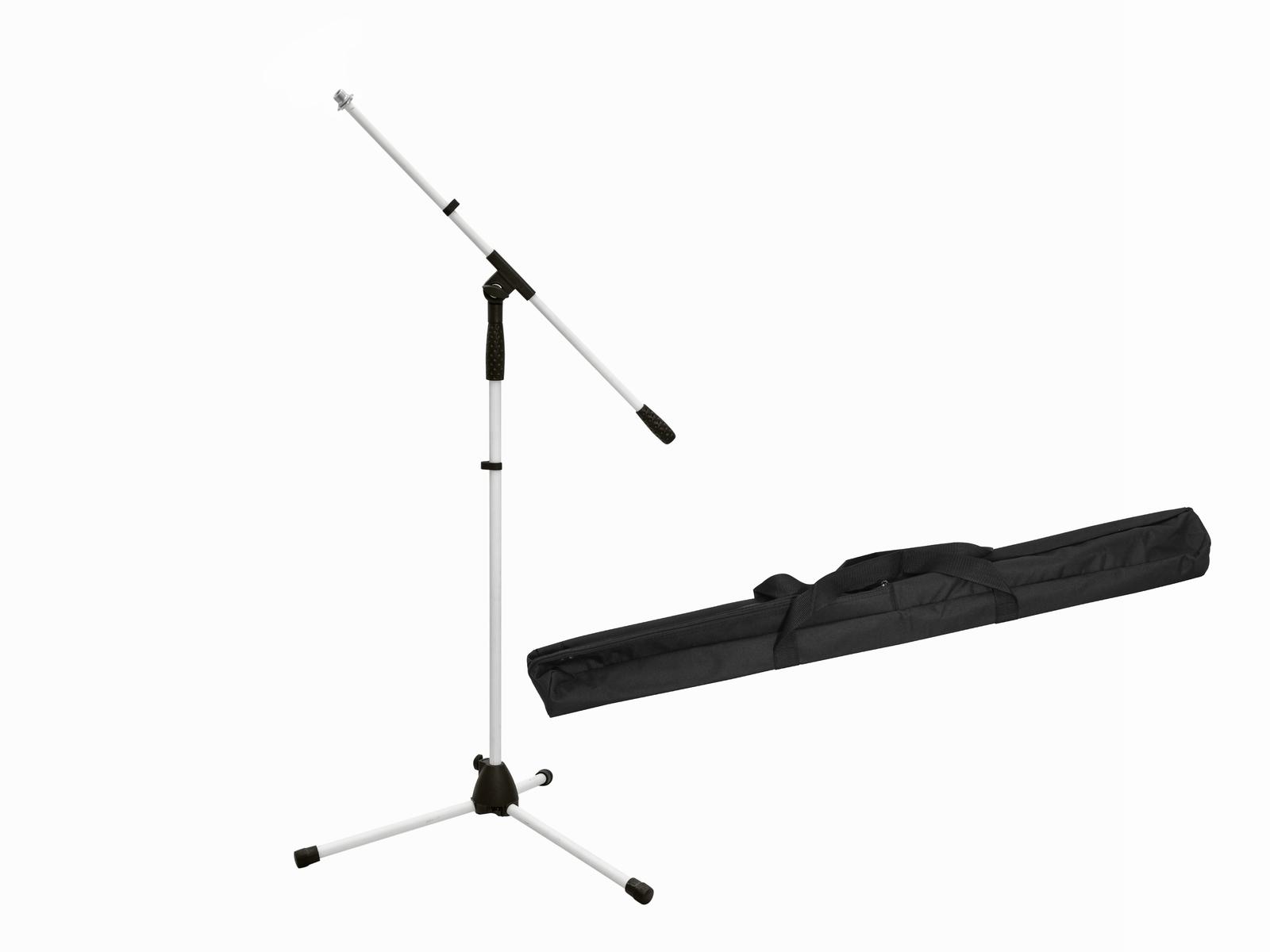 OMNITRONIC Set Mikrofonstativ MS-1W mit Galgen weiß + Tasche