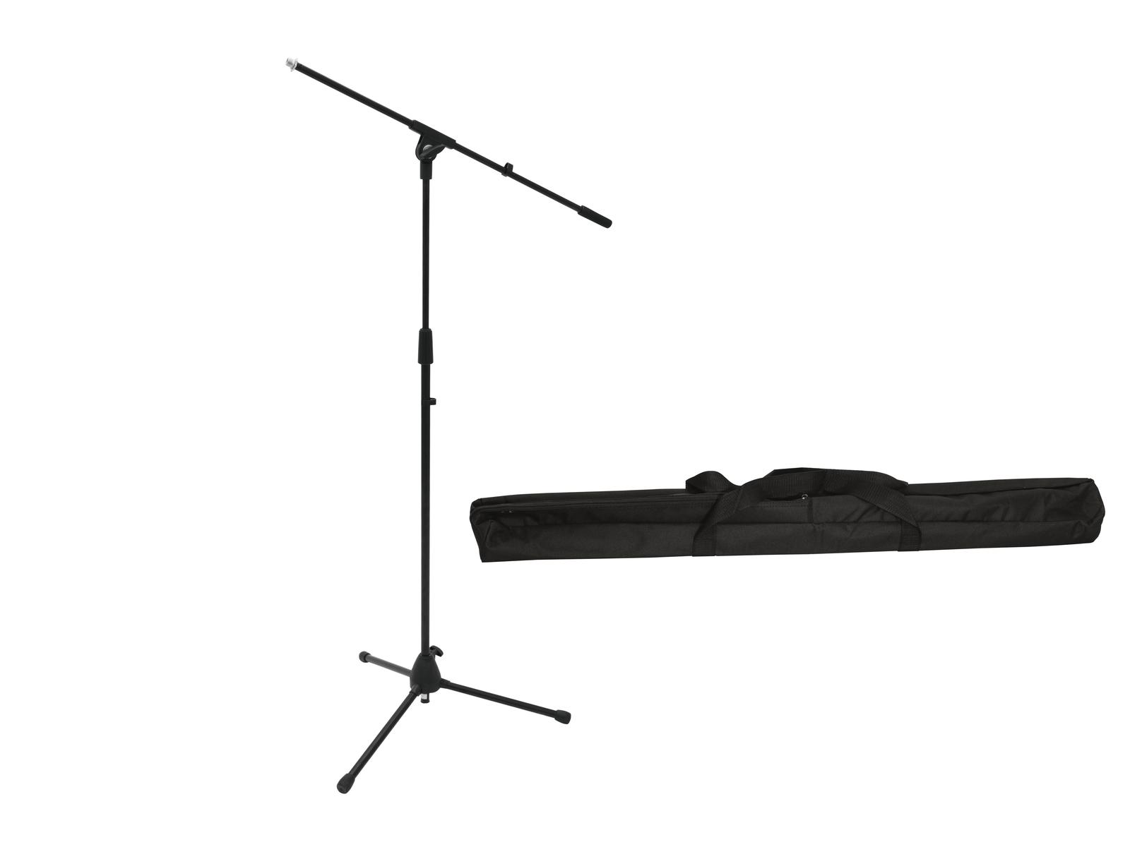 OMNITRONIC Set Mikrofonstativ MS-2 mit Galgen sw + Tasche
