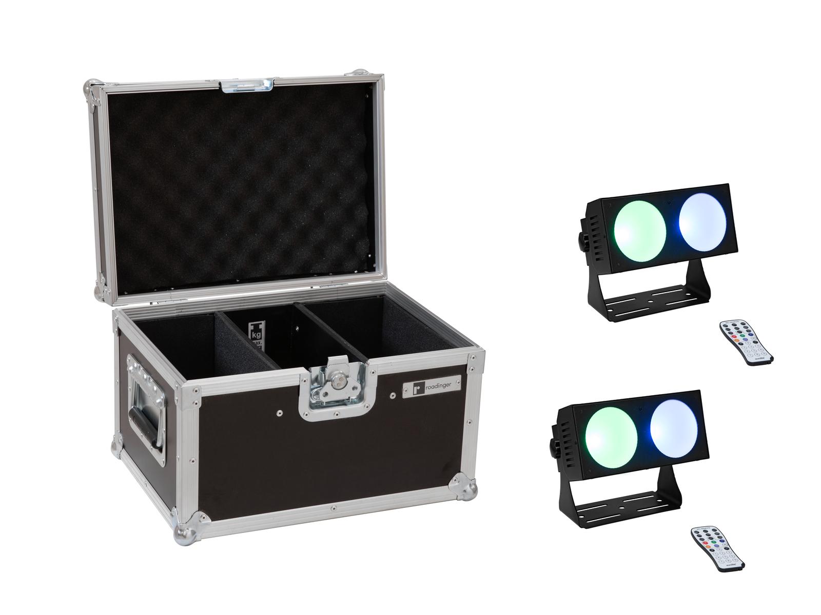 EUROLITE Set 2x LED CBB-2 COB RGB Leiste + Case
