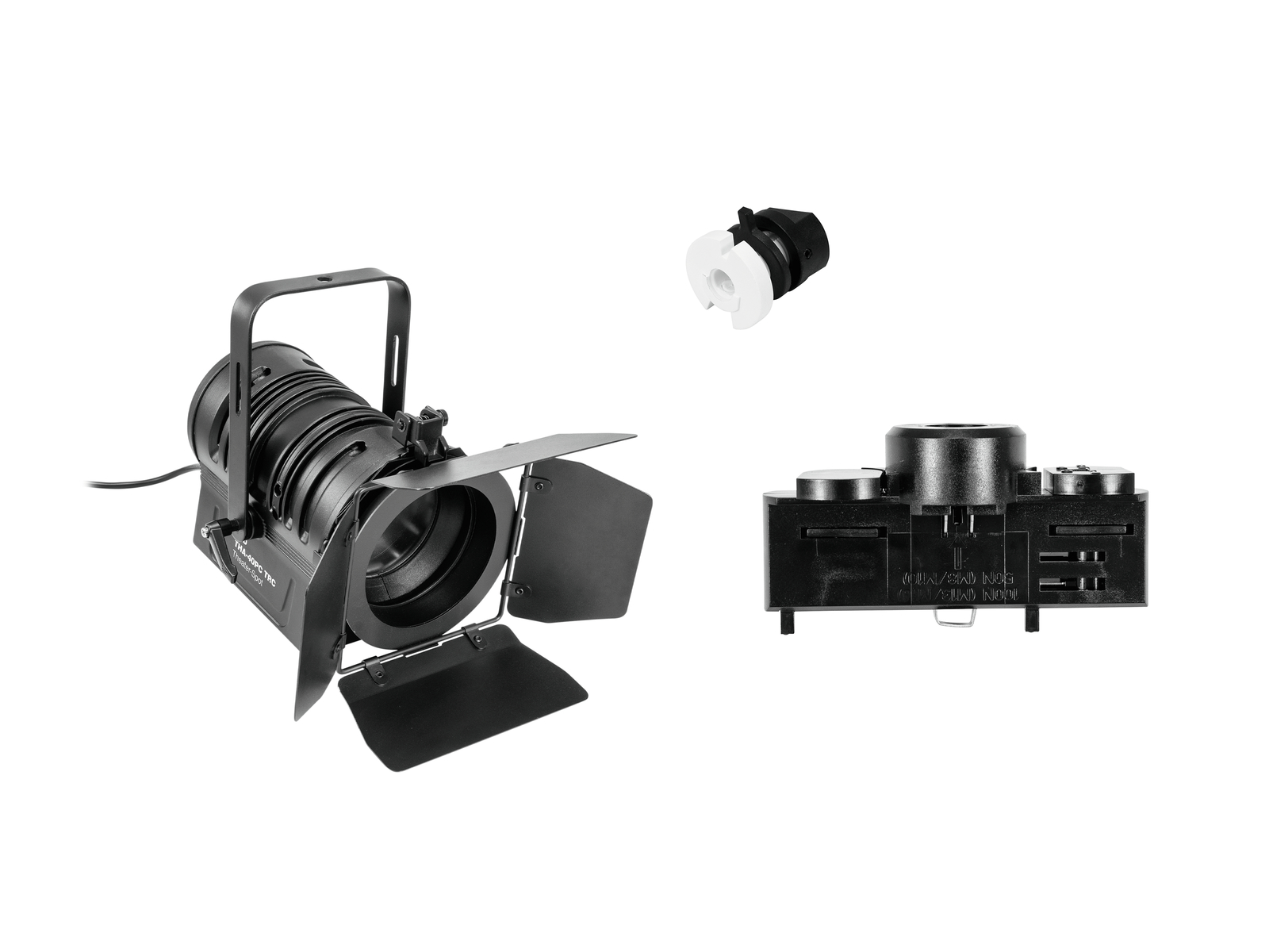 EUROLITE Set DIY LED THA-40PC TRC + Stromschienenadapter, 3-phasig, schwarz