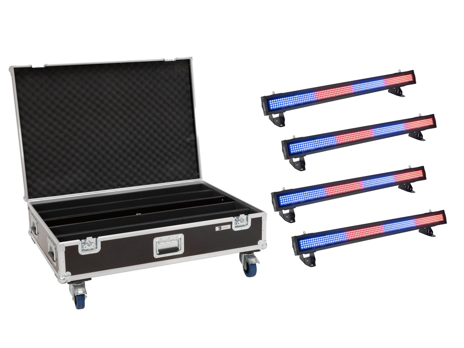 EUROLITE Set 4x LED IP T-PIX 8 QCL Leiste + Case