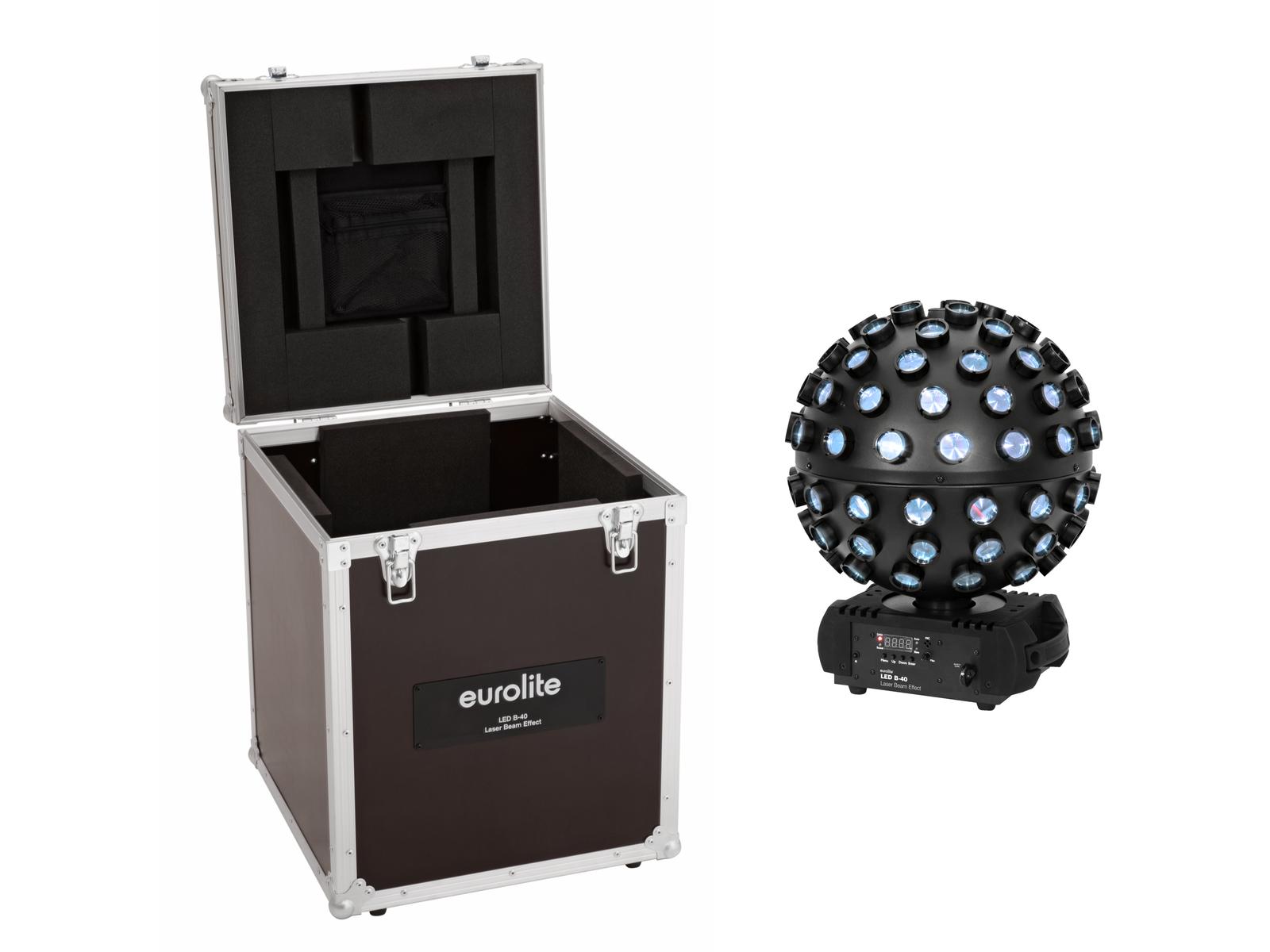 EUROLITE Set LED B-40 Laser Strahleneffekt + Case