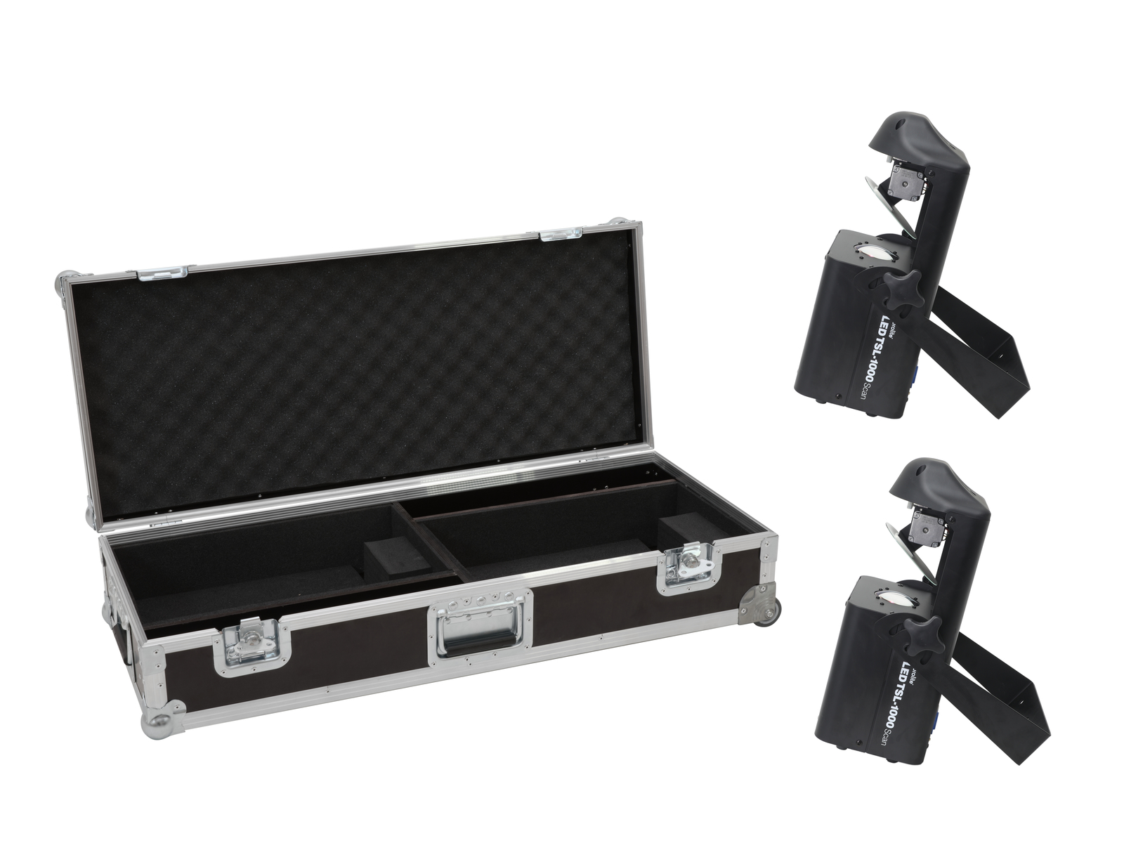 EUROLITE Set 2x LED TSL-1000 Scan + Case mit Trolleyfunktion