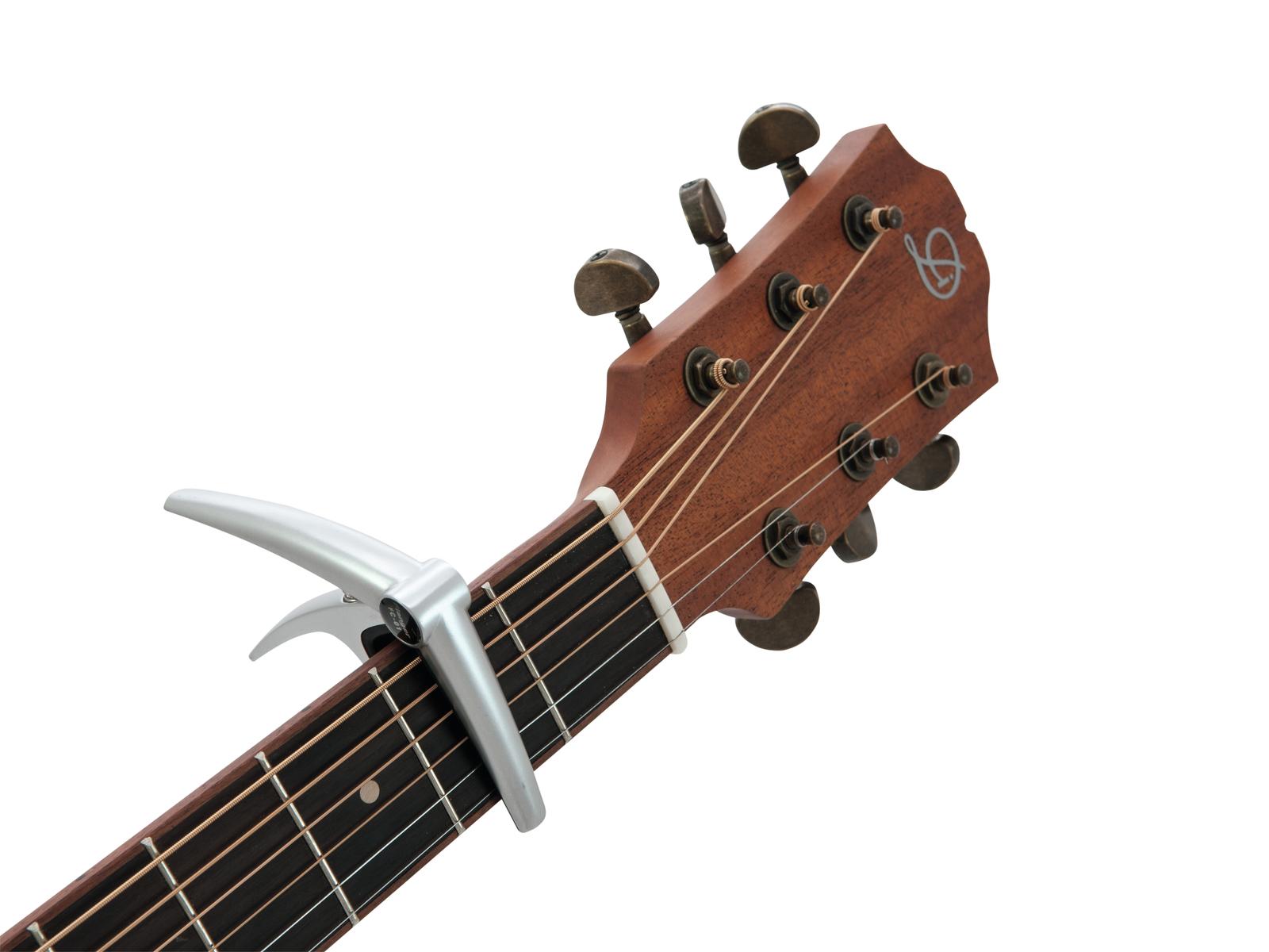 Capotasto per chitarra acustica ed elettrica DIMAVERY KA-1 silver