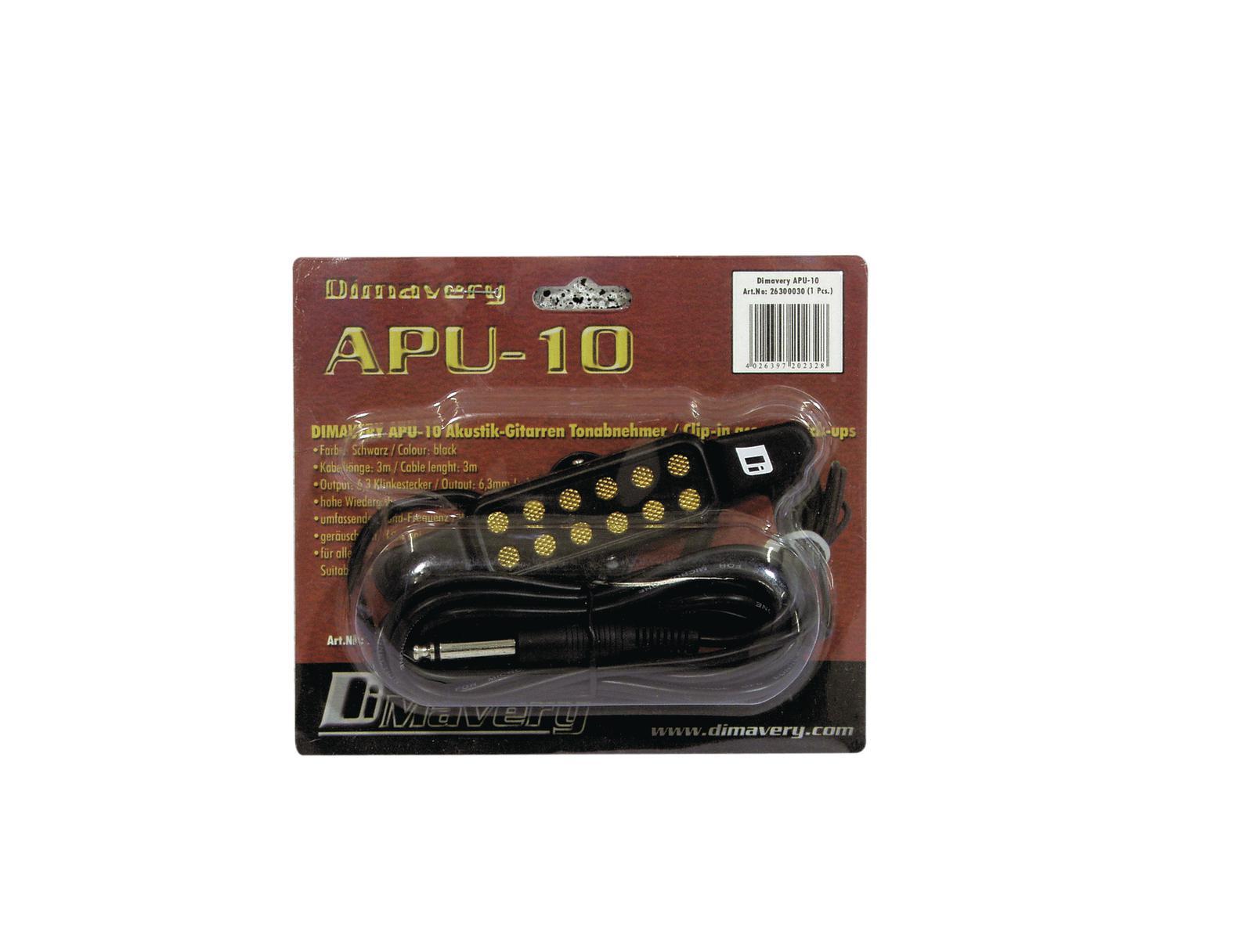 Pick up per chitarra acustica DIMAVERY APU-10  KQ-3