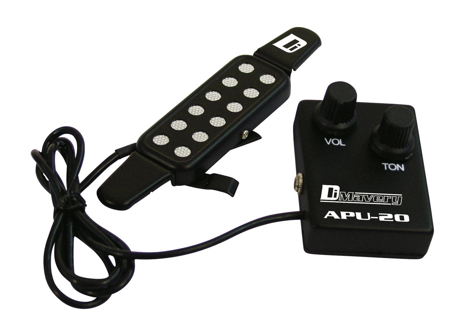 Pick-up per chitarra acustica con controller DIMAVERY APU-20 QH-6A