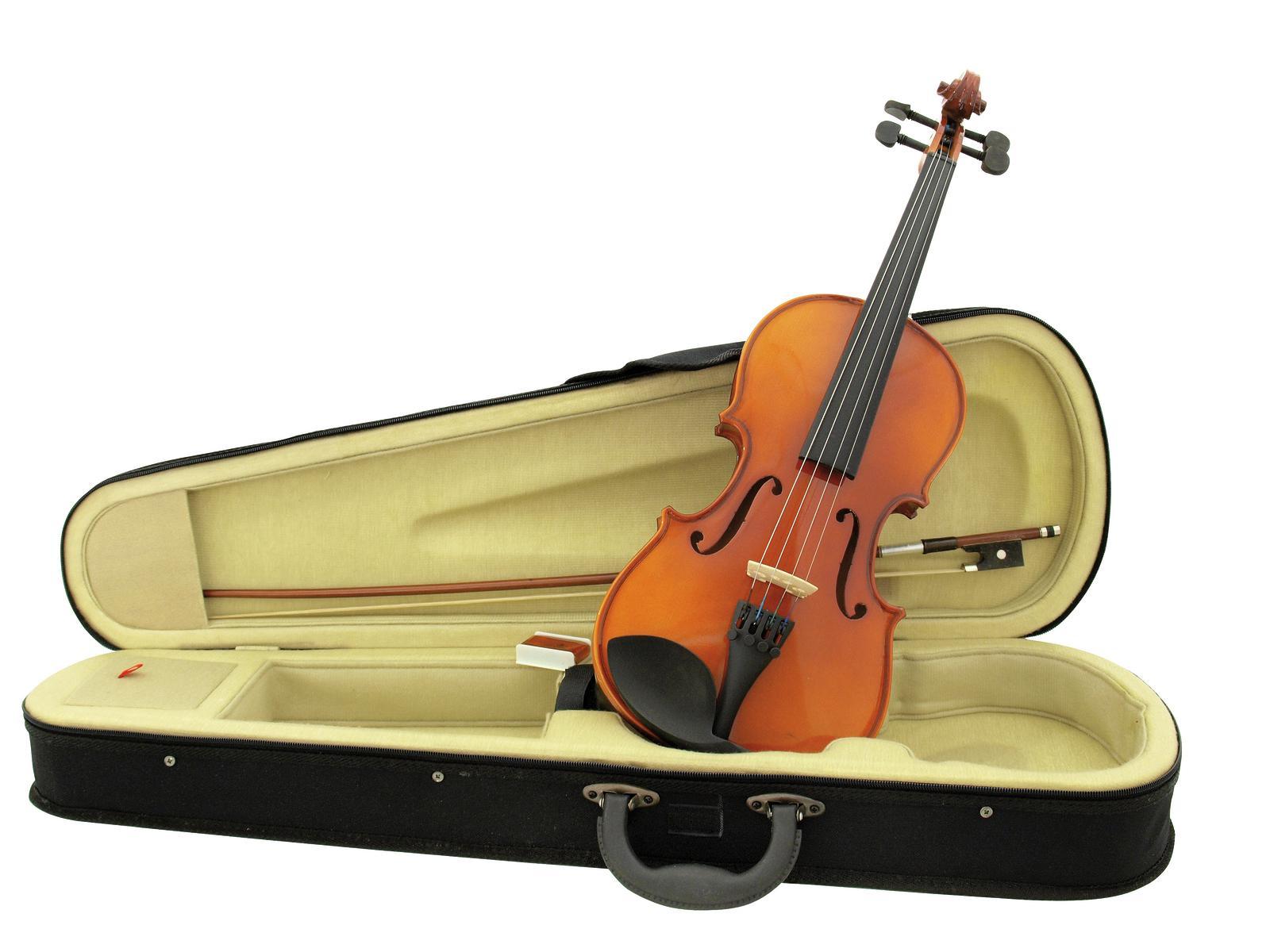 Violino taglia 3/4, legno naturale, corpo imp. acero, con custodia, DIMAVERY