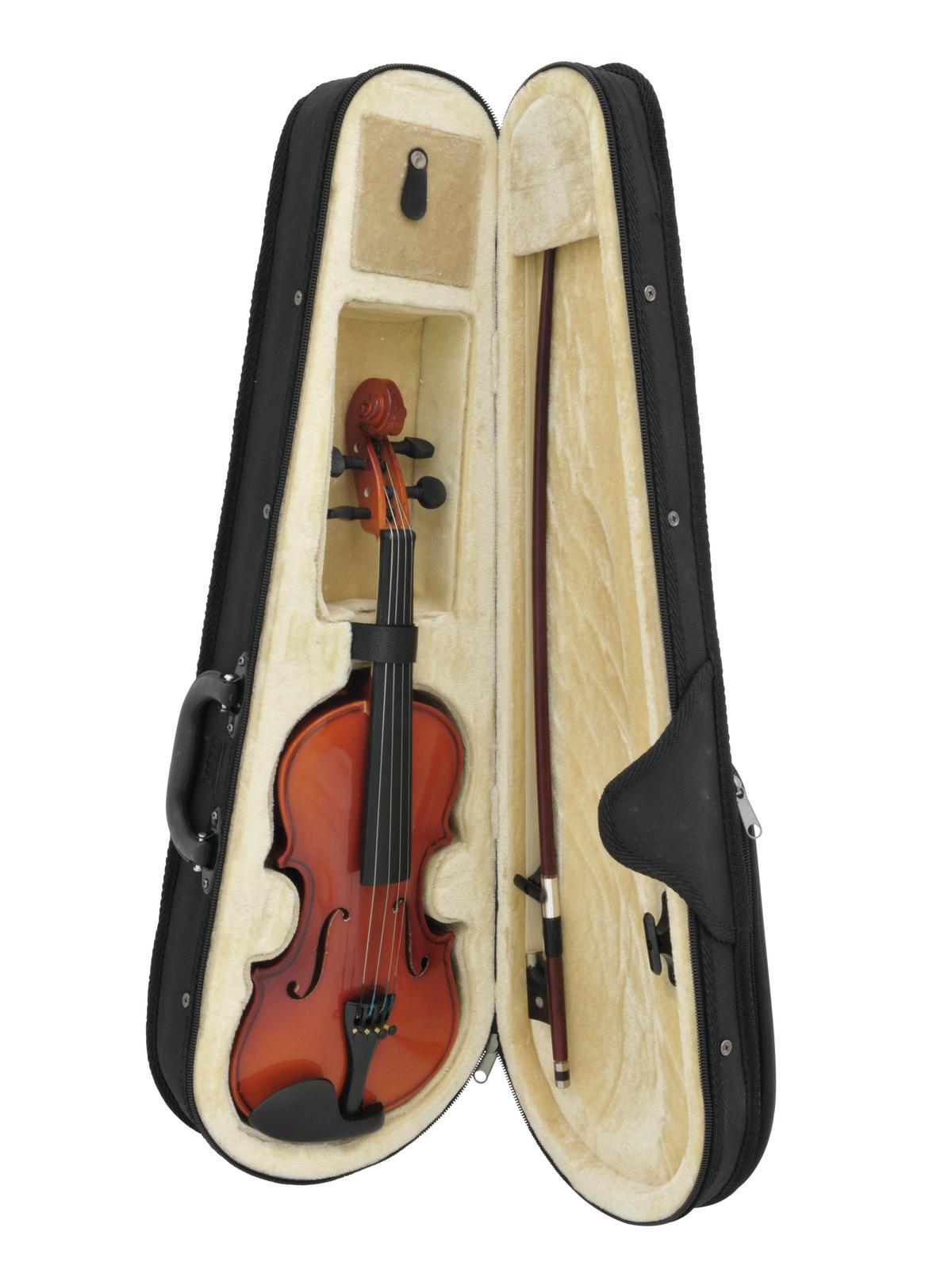 Violino taglia 1/8, colore legno naturale, corpo acero, con custodia DIMAVERY
