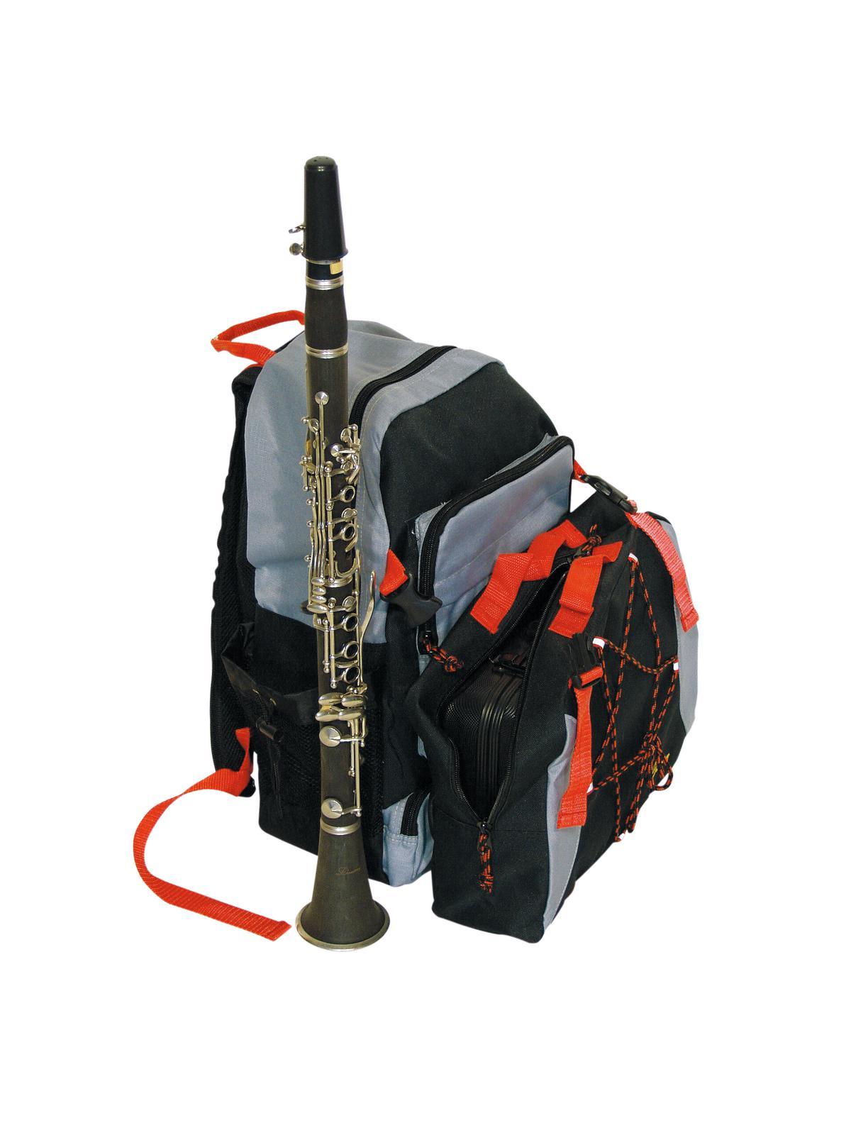 Speciale-zaino per Clarinetto o flauto, nero antracite e rosso, DIMAVERY