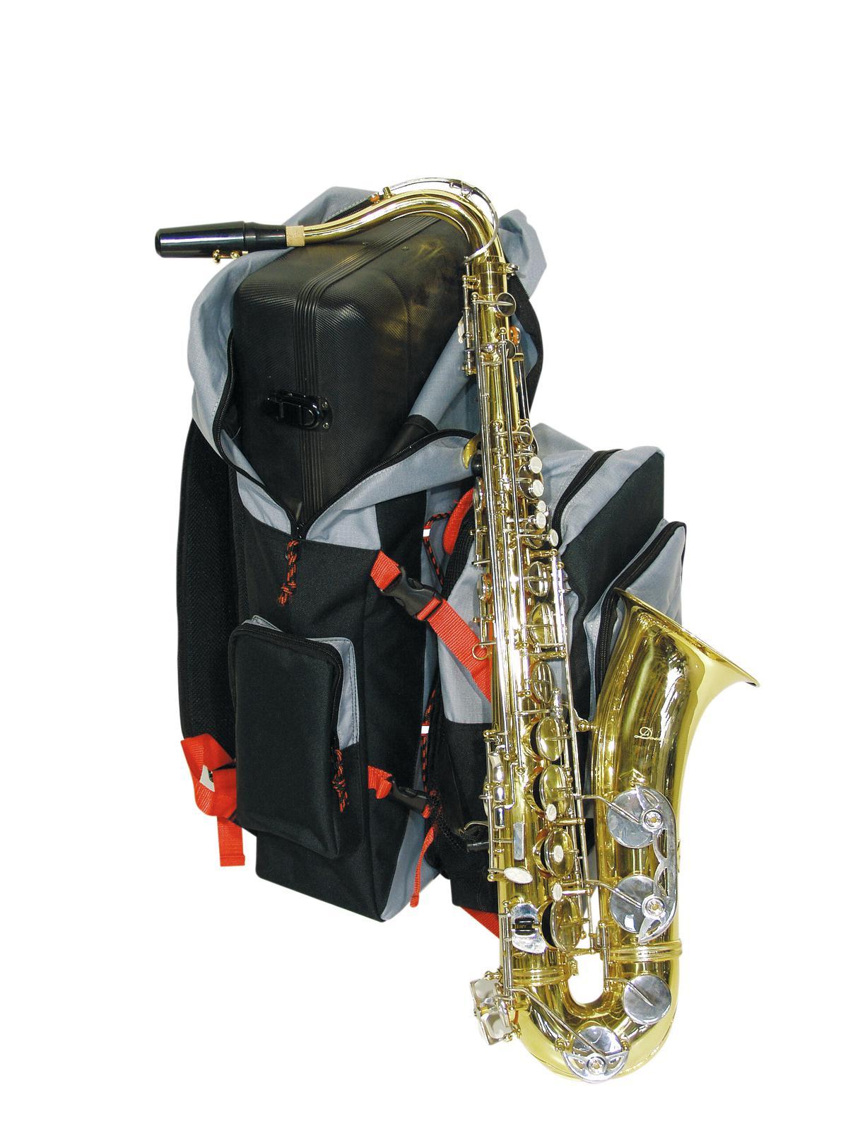 Speciale Zaino per Sassofono, nero antracite e rosso DIMAVERY