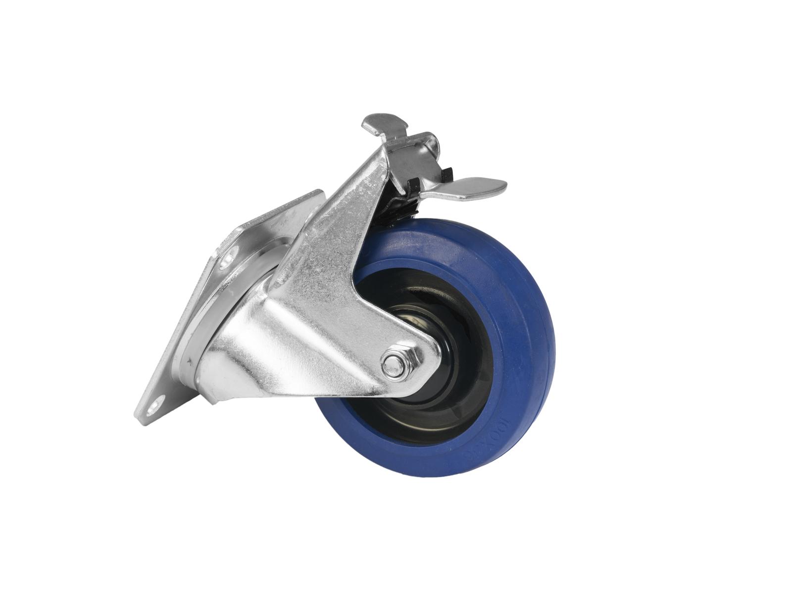 ROADINGER Lenkrolle RD-100B 100mm blau mit Bremse