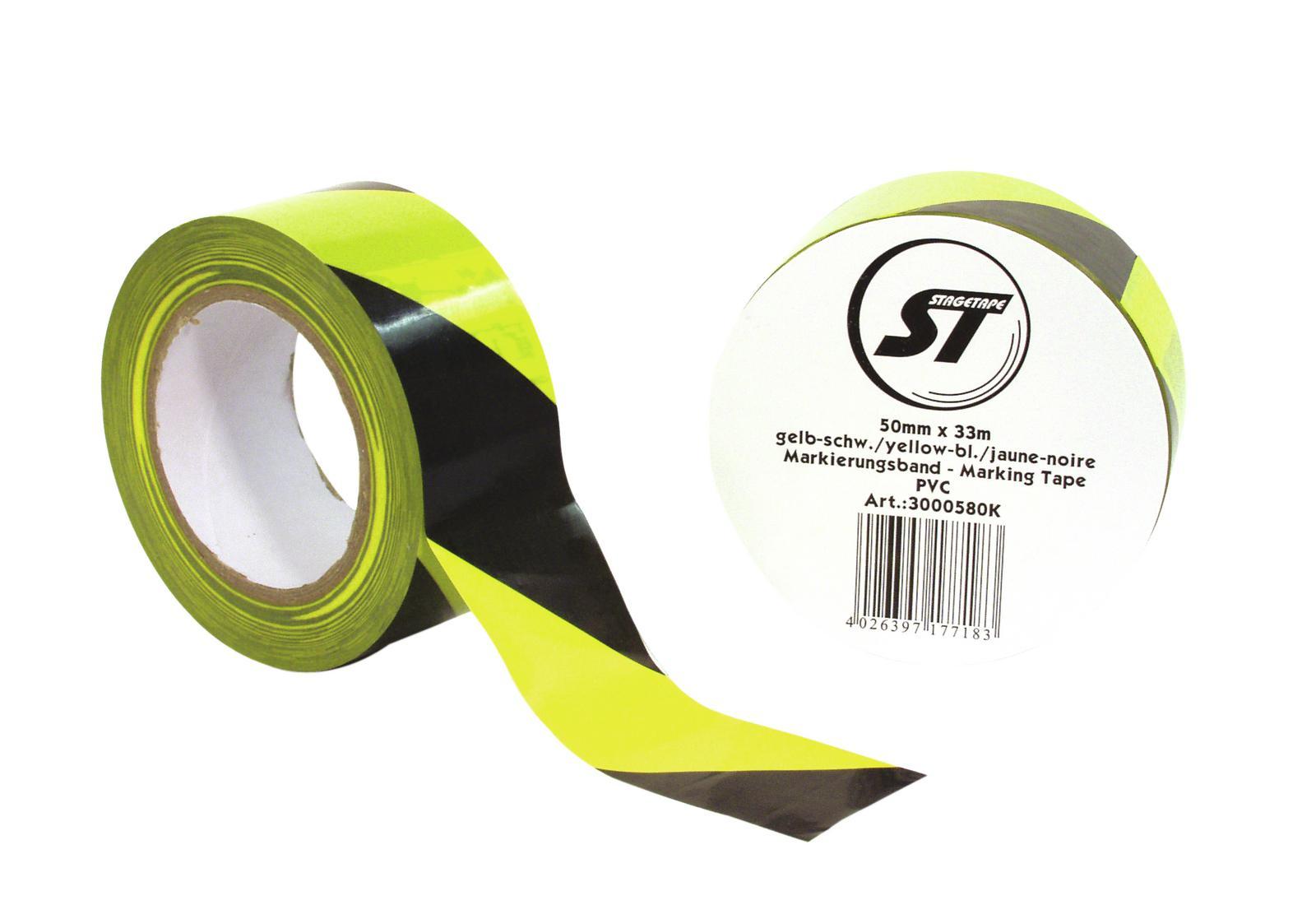 ACCESSORY Markierungsband PVC gelb/sw