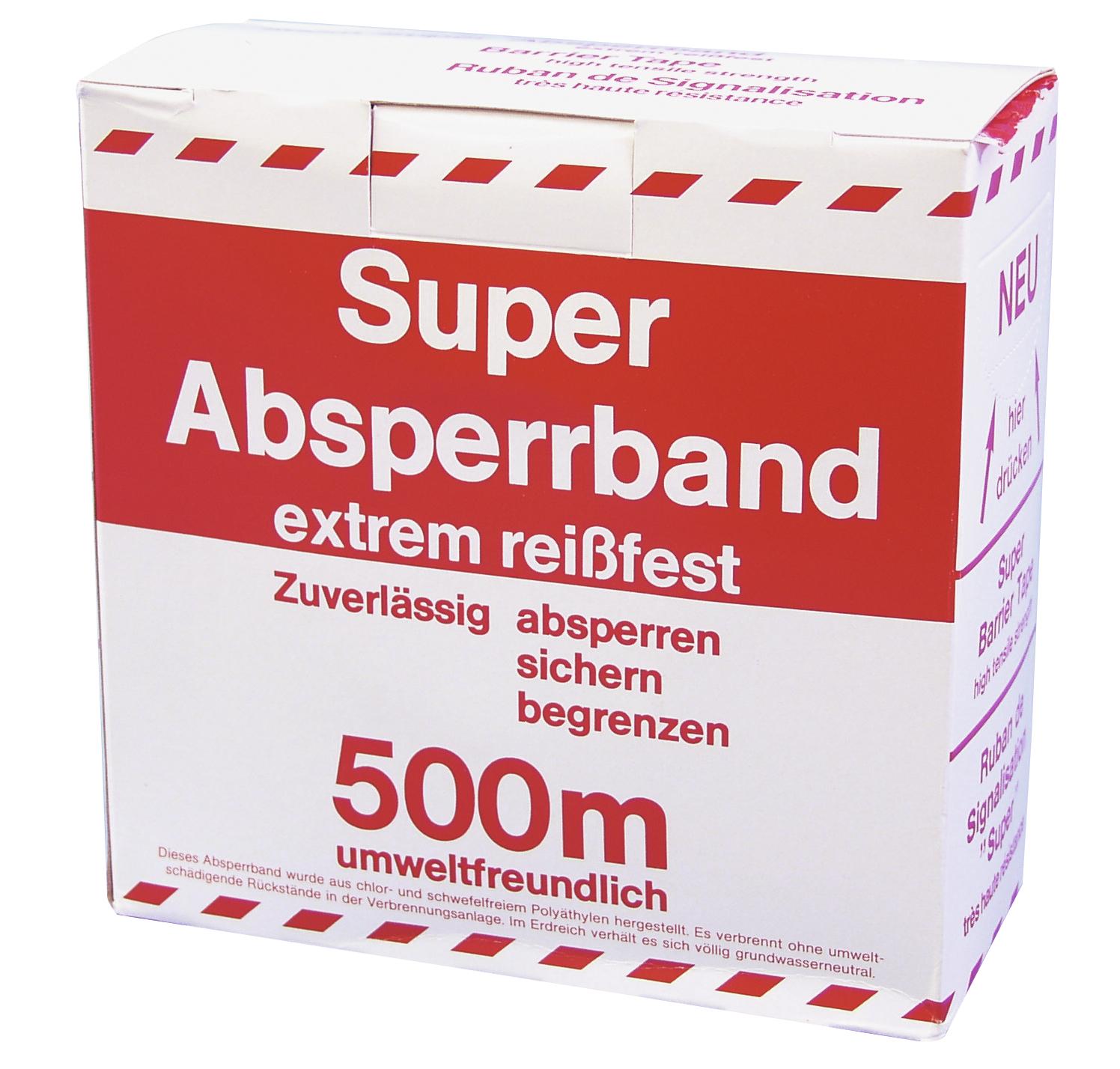 ACCESSORY Absperrband rot/weiß 500mx75mm
