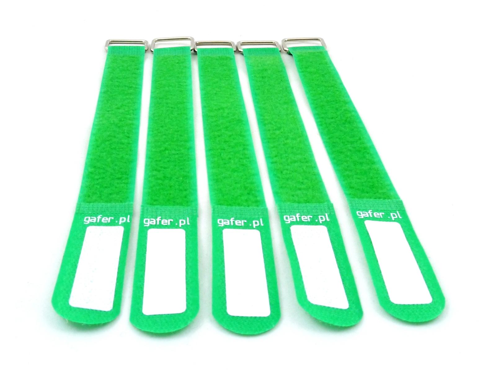 GAFER.PL Legare le Cinghie 25x400mm 5 pezzi verde