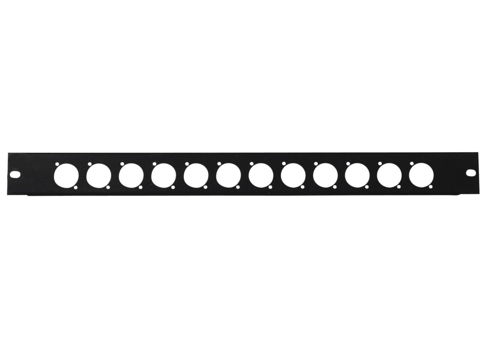 OMNITRONIC Frontplatte Z-19 12 x XLR (D-Typ) 1HE
