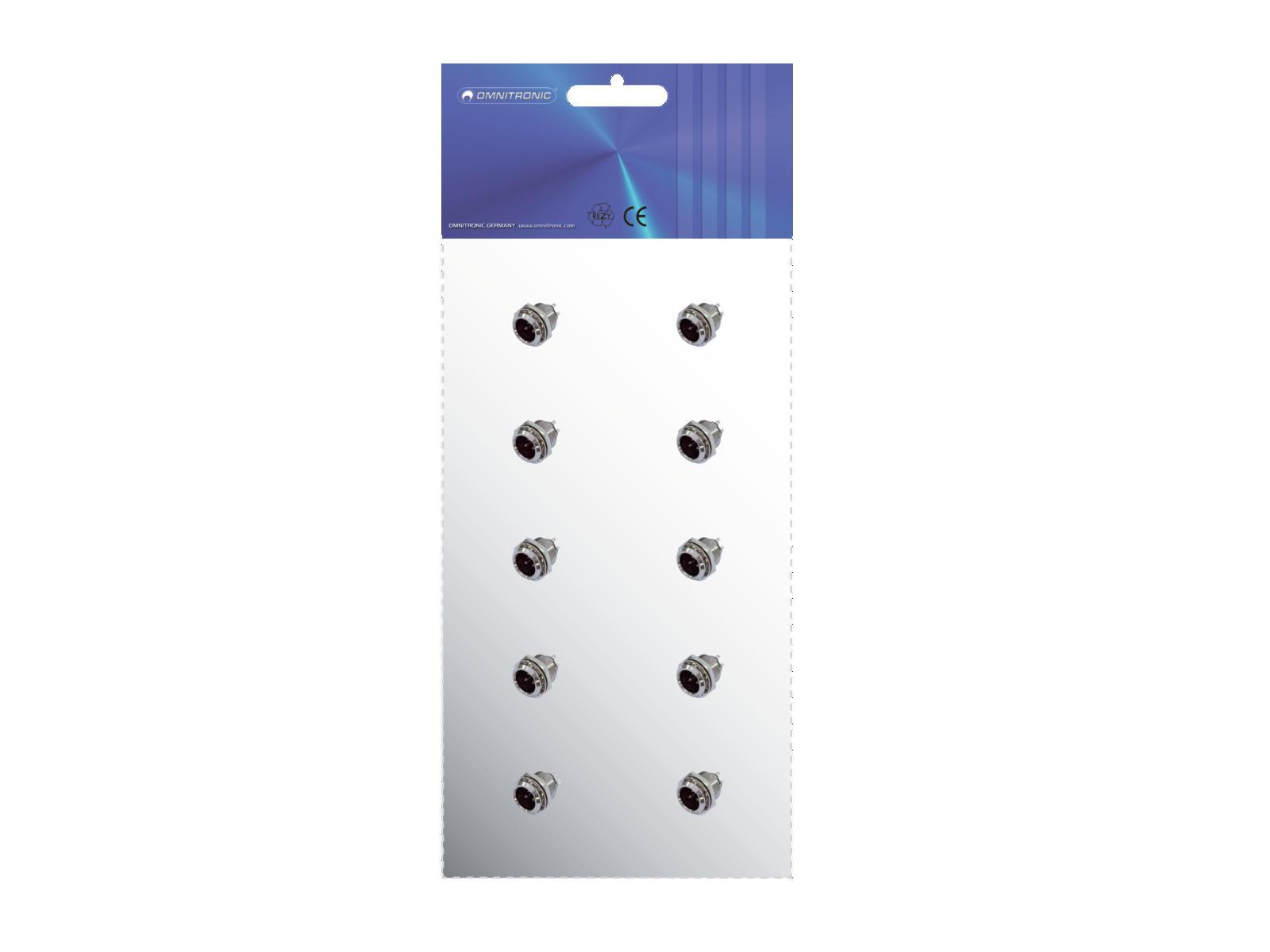 OMNITRONIC Mini XLR Montaggio plug 3pin